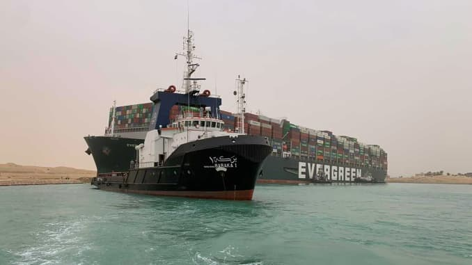 Massive cargo ship that blocked Egypt's