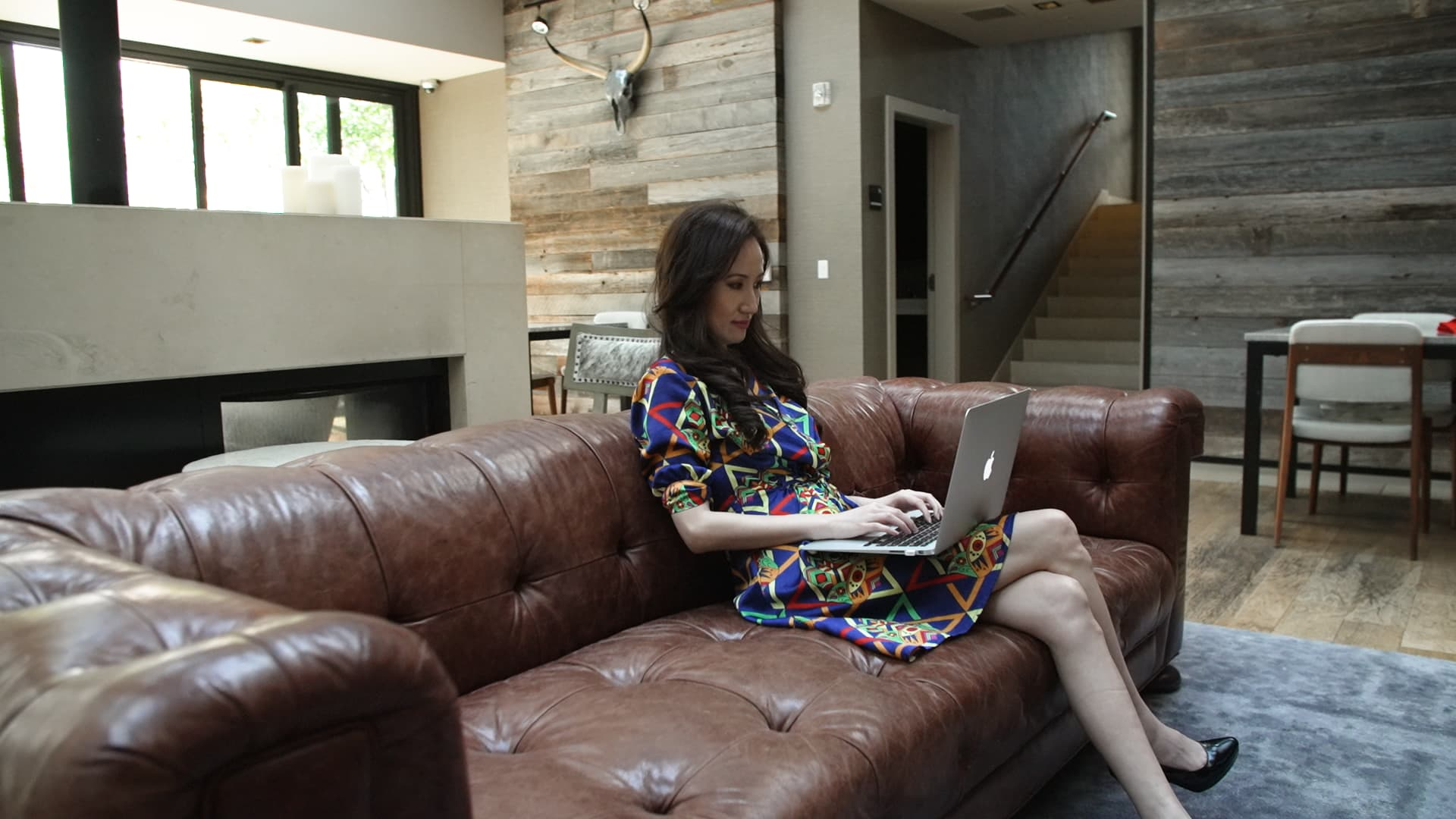 Shan Shan Fu works on her business, Millennials in Motion.