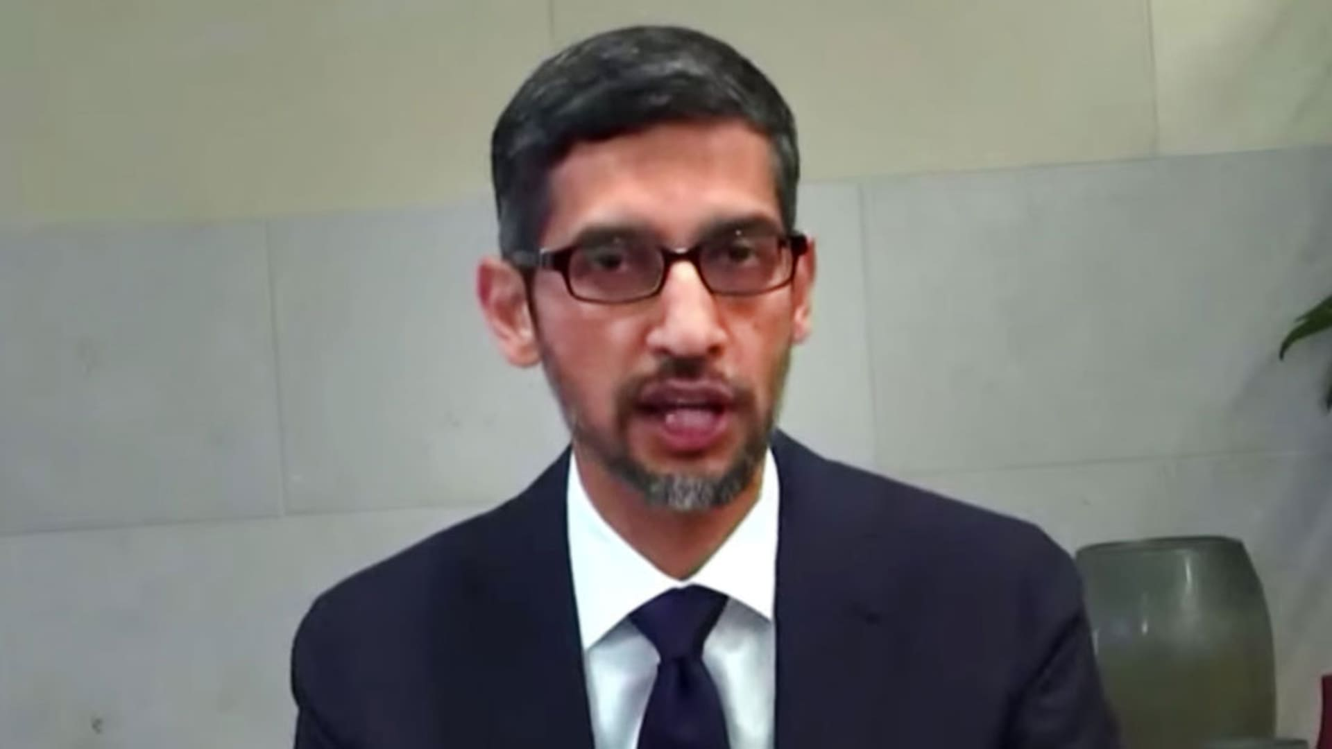 Sundar Pichai, Google testifies at congressional hearing, March 25, 2021.