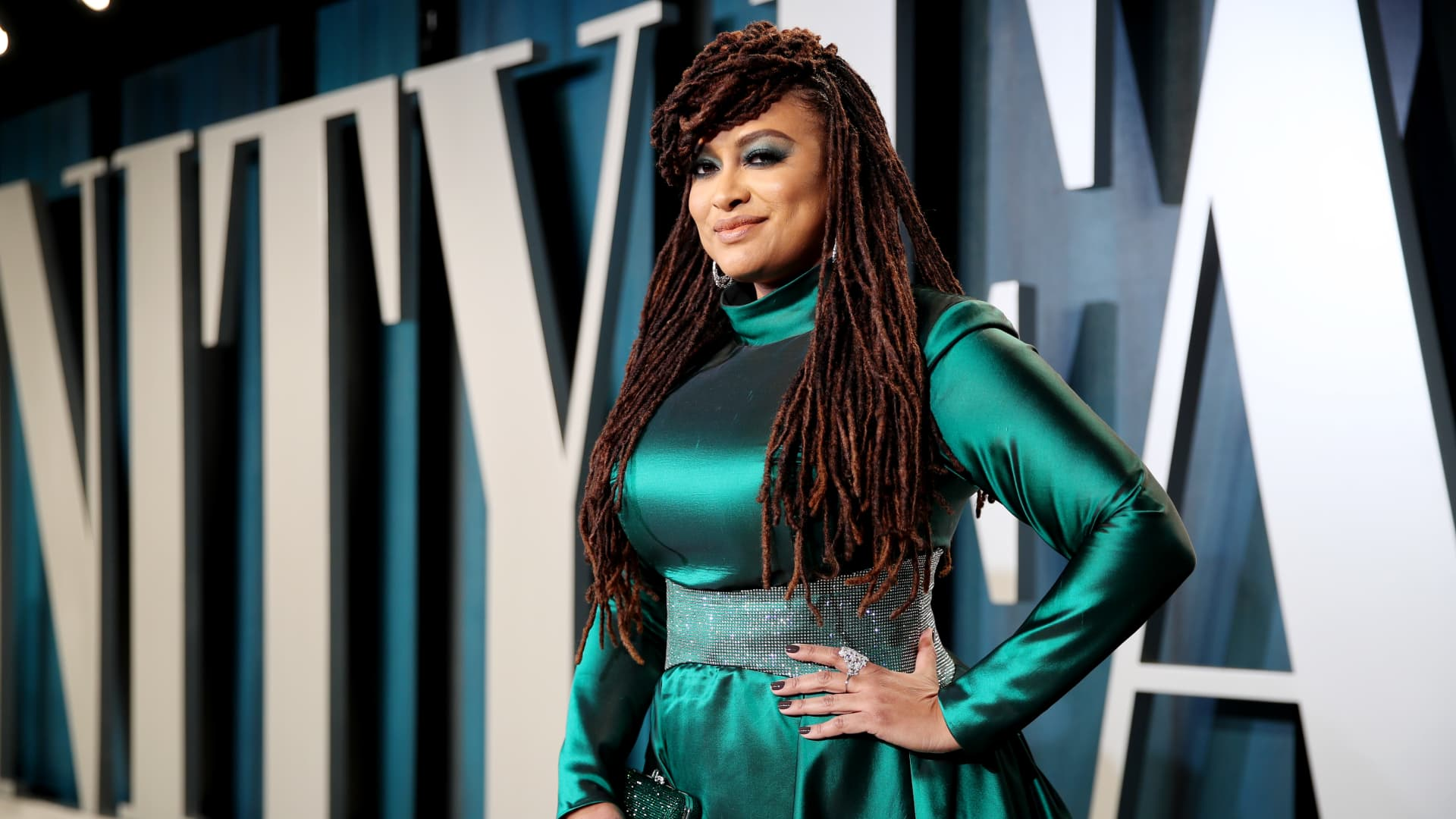 Ava DuVernay attends the 2020 Vanity Fair Oscar Party hosted by Radhika Jones at Wallis Annenberg Center for the Performing Arts on February 09, 2020 in Beverly Hills, California.