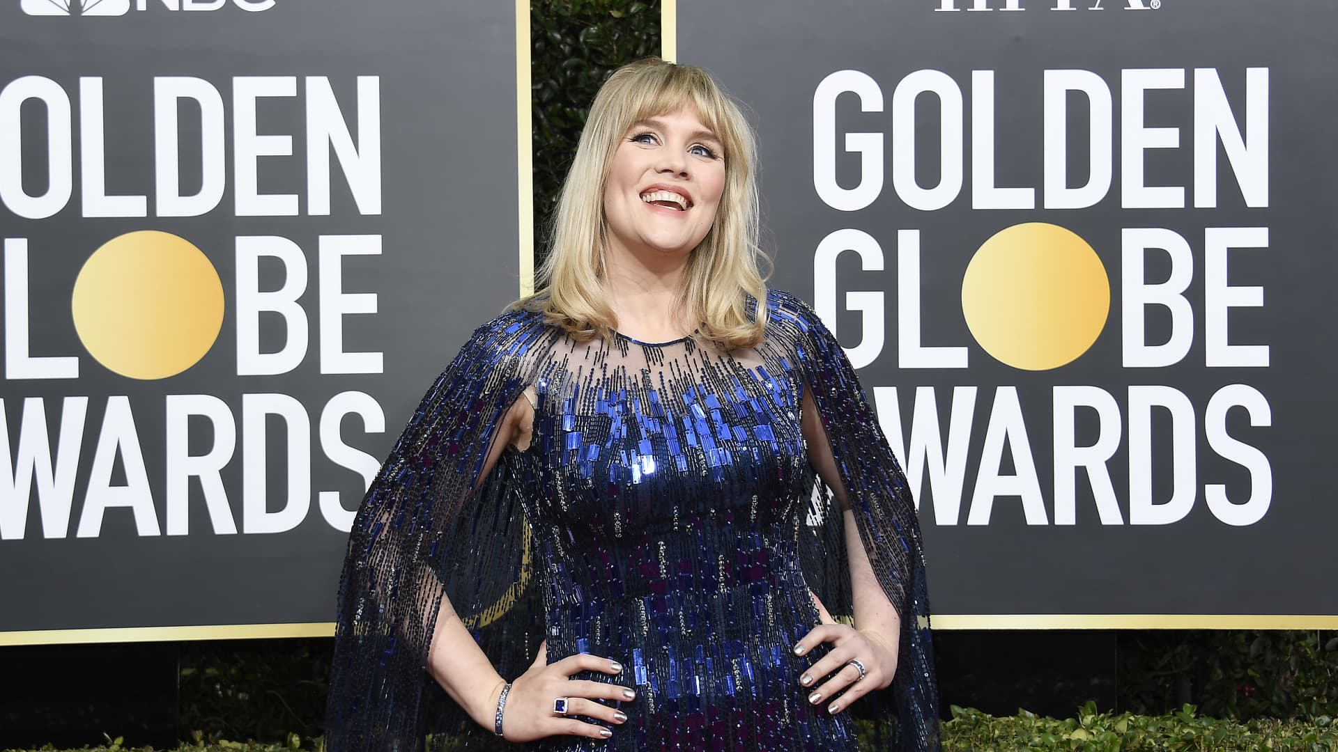 Emerald Fennell arrives to the 77th Annual Golden Globe Awards held at the Beverly Hilton Hotel on January 5, 2020.