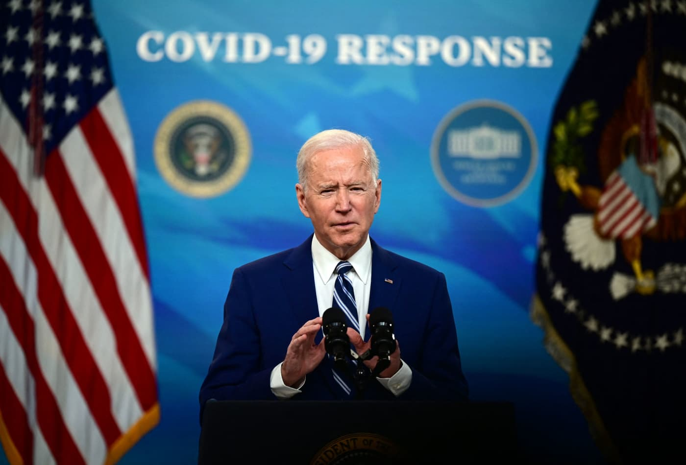 Biden says 90% of U.S. adults will be eligible for Covid shots by April 19 with sites within five miles of home
