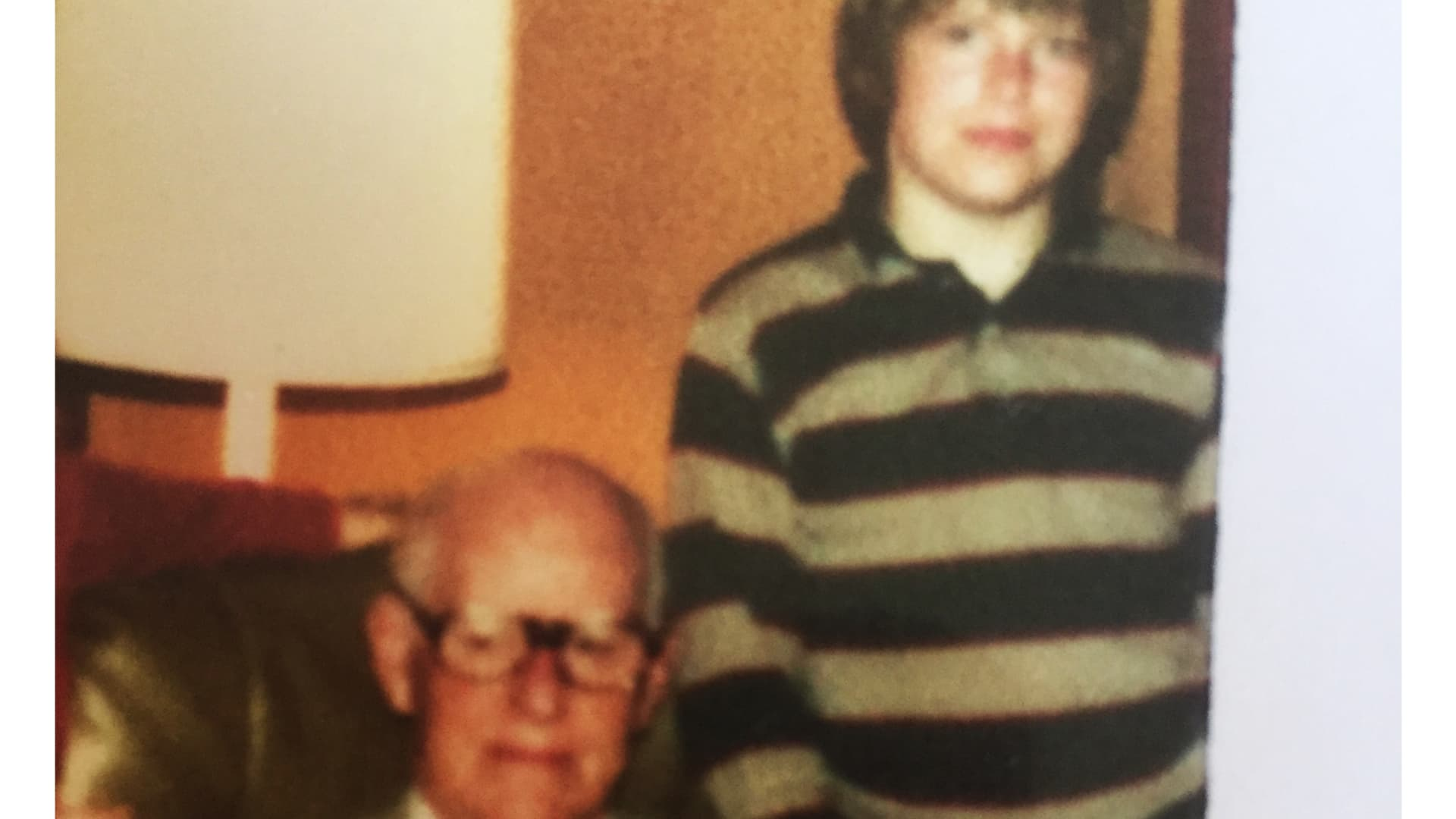 A young Jay Clayton with his maternal grandfather, Patrick Kerwin.
