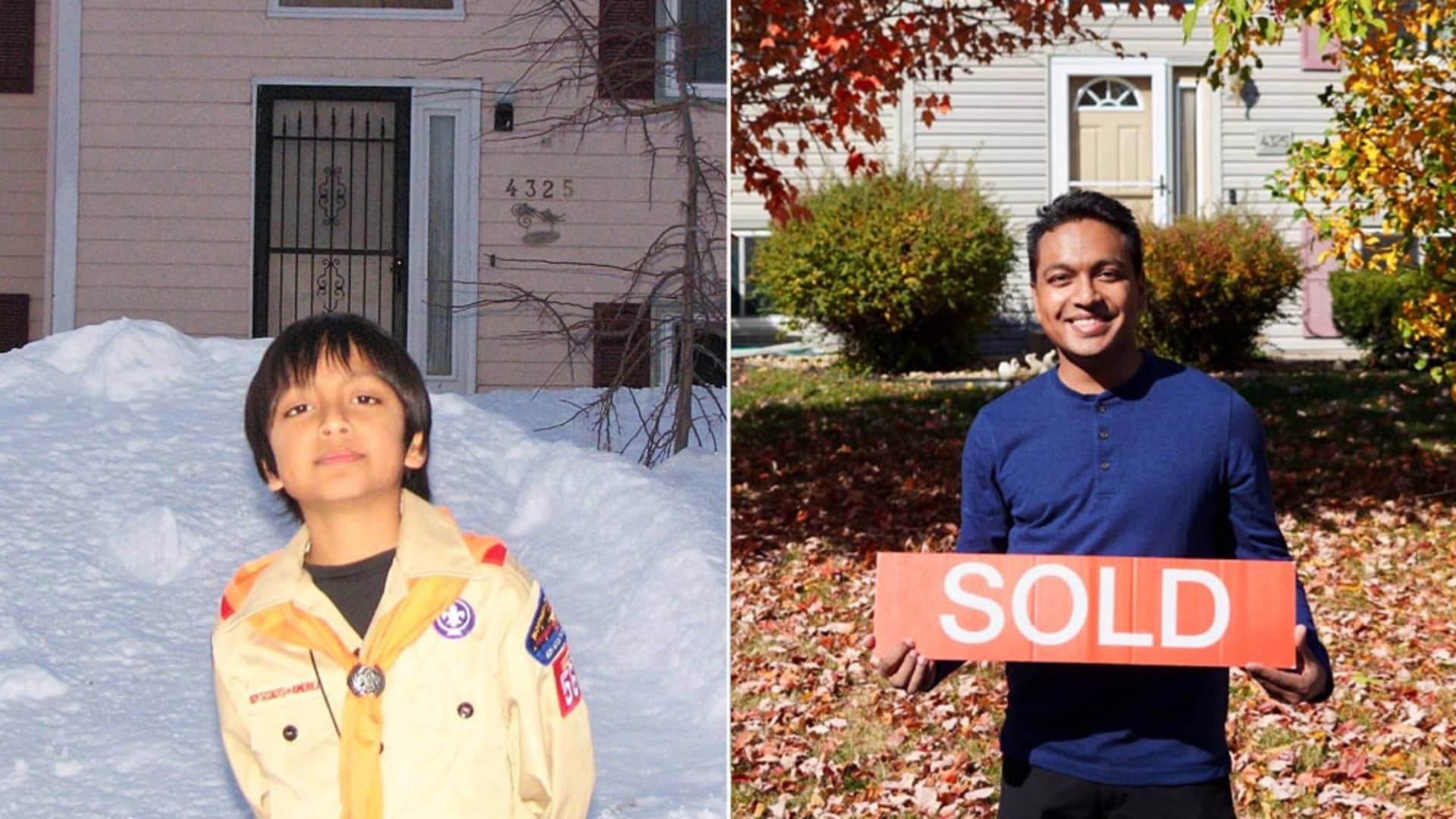 After saving for years, Preenon Huq bought his parents' home in Plymouth, Minnesota at the age of 24.