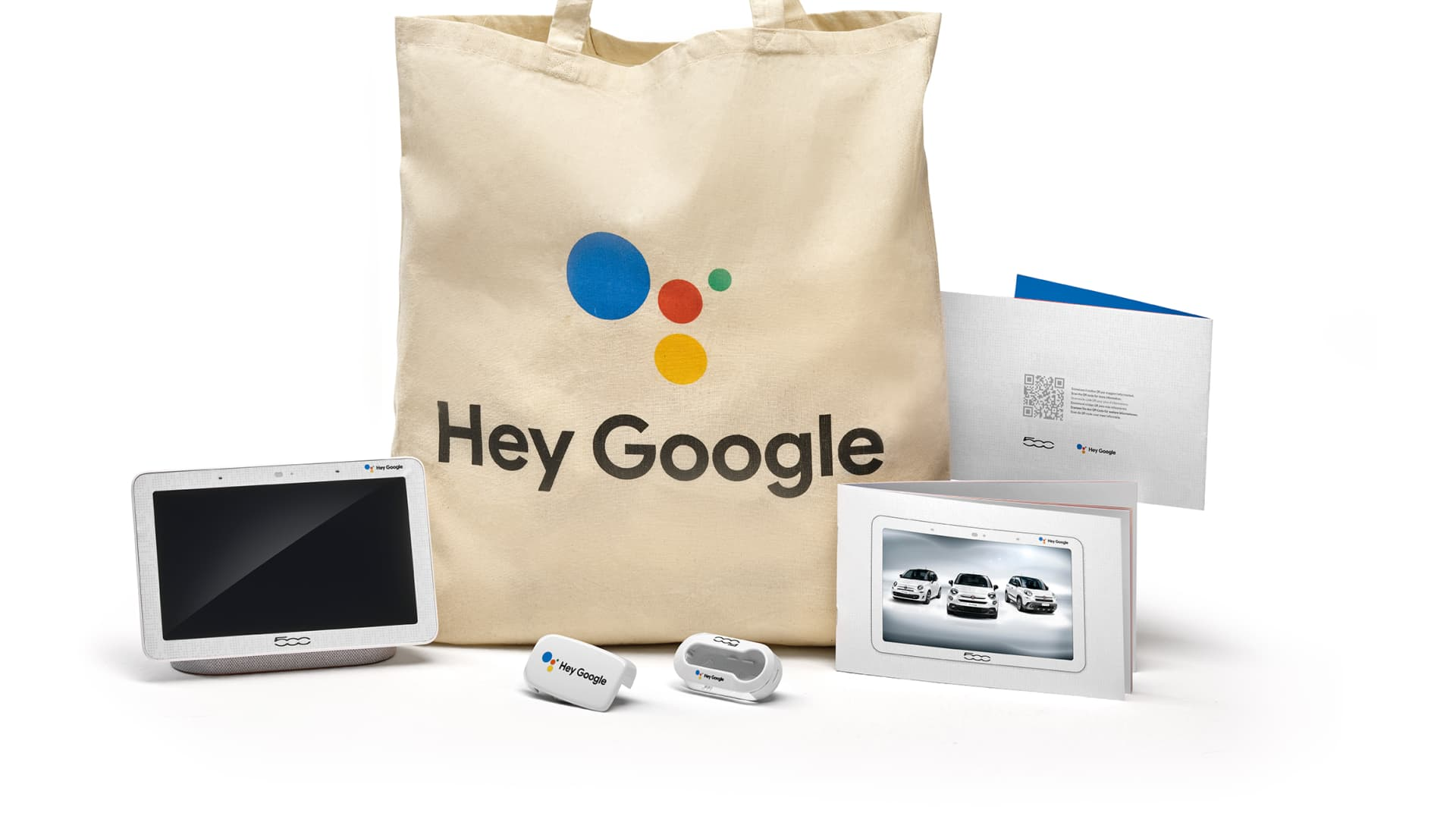 The cars come with Google-branded welcome kits.