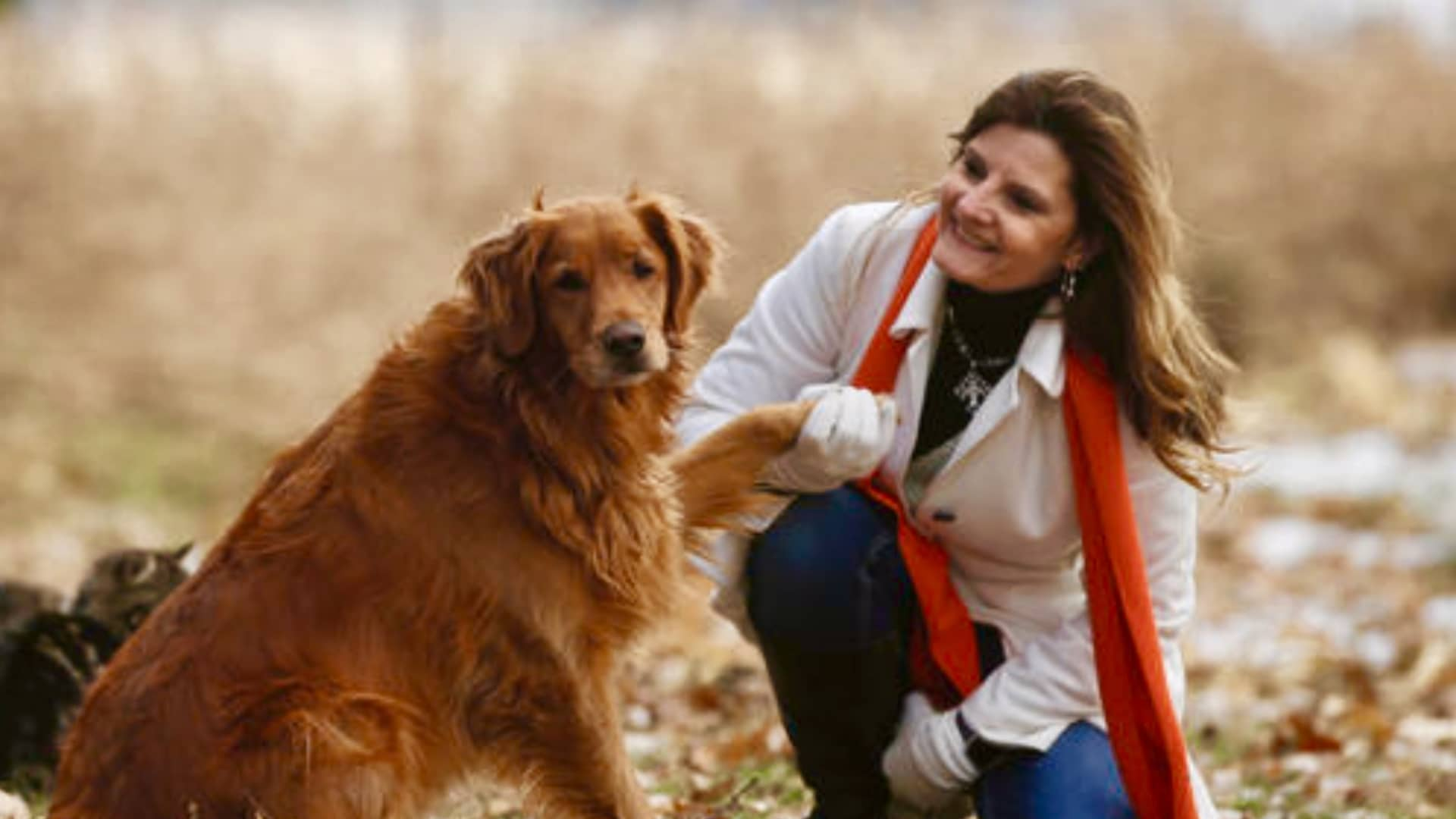 Sheri Paulson with her dog Jazzy in North Dakota.