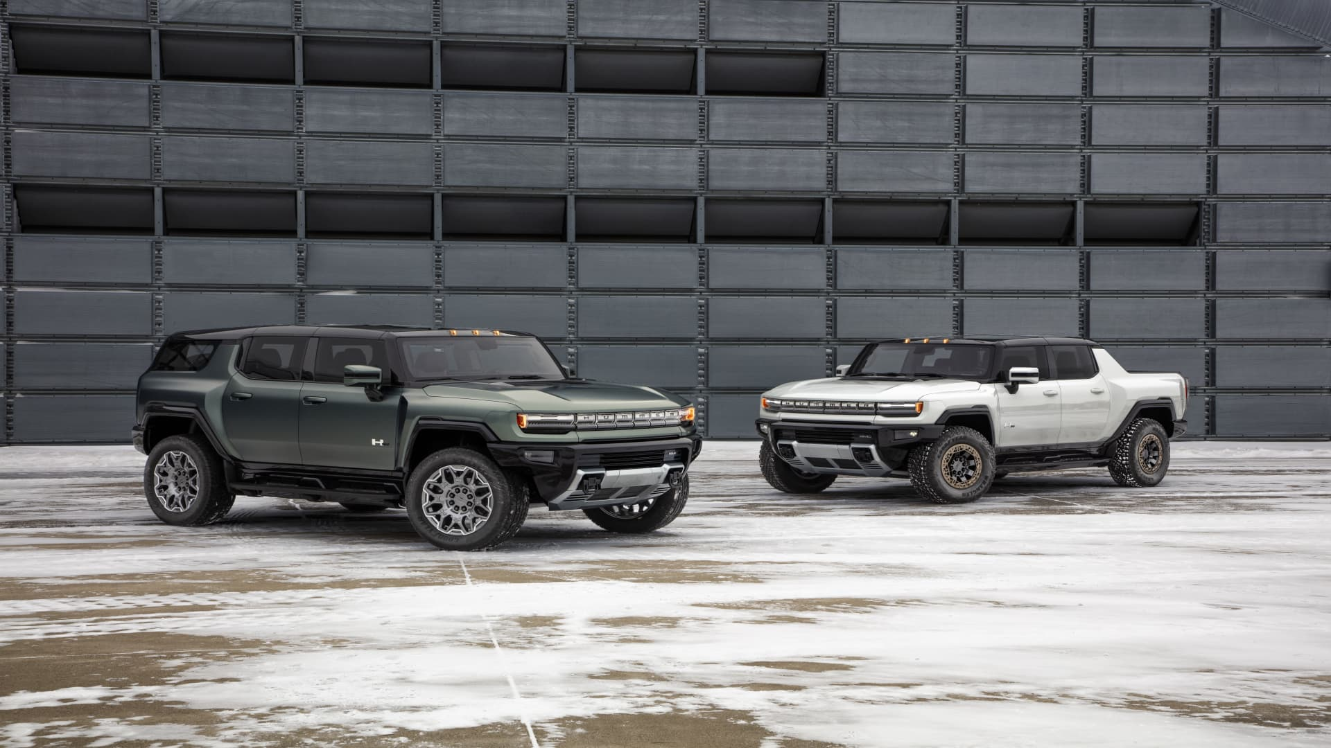 The 2024 GMC Hummer EV SUV and 2022 GMC Hummer EV sport utility truck, or SUT.