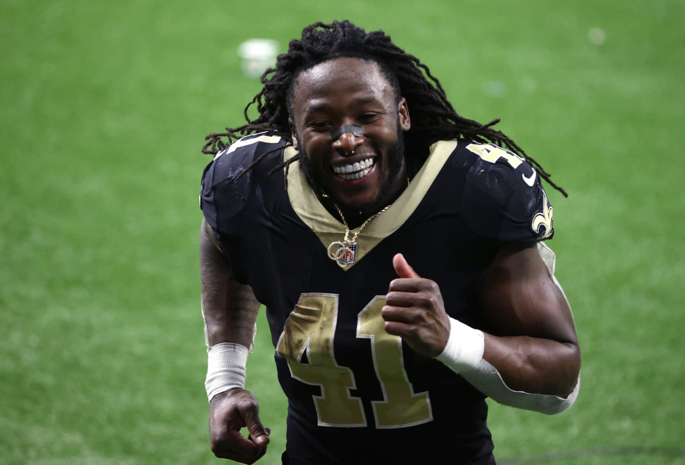 NFL star Alvin Kamara has a $75 million contract, but hasn't spent a dime of his football earnings