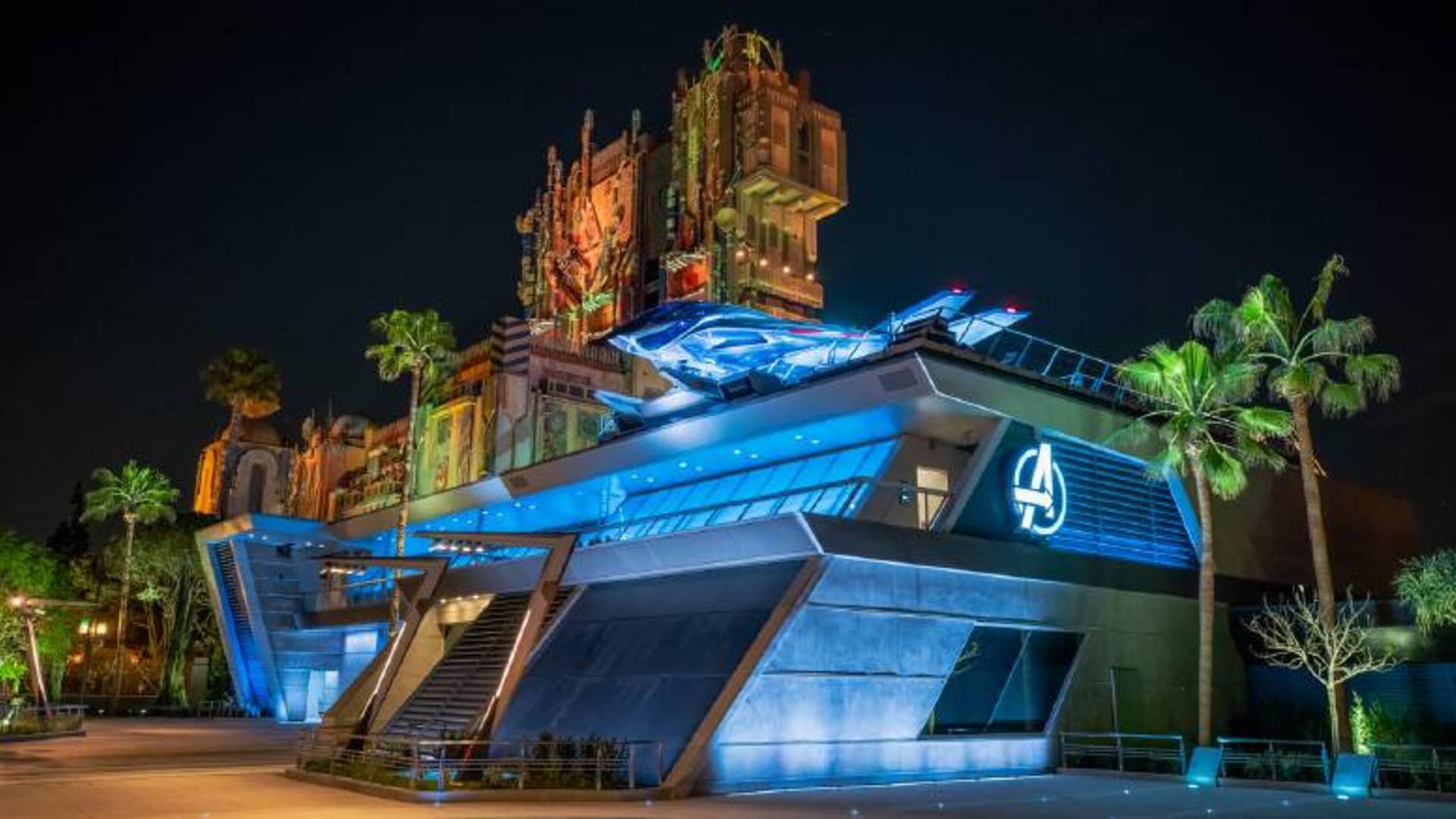 The Avengers Campus park land in Disney California Adventure in Anaheim, California.