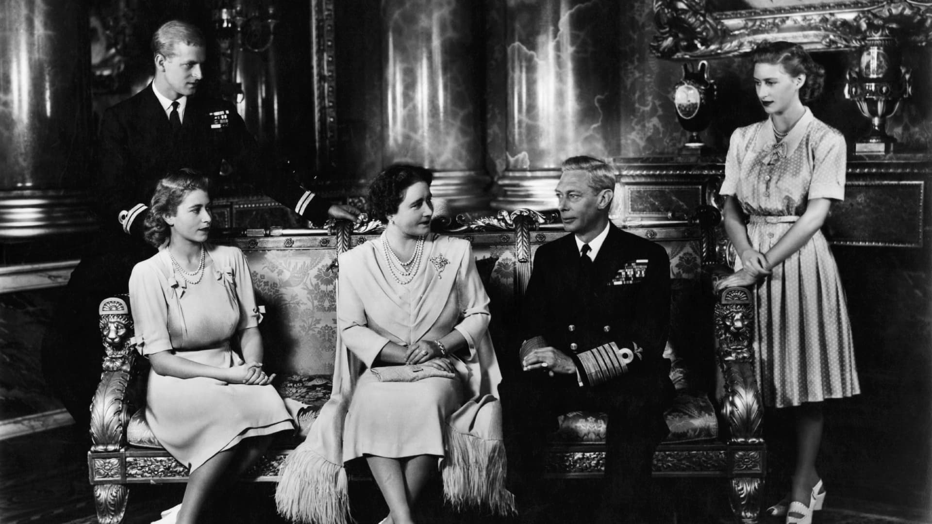 Royal Family with Lord Mountbatten circa 1940.