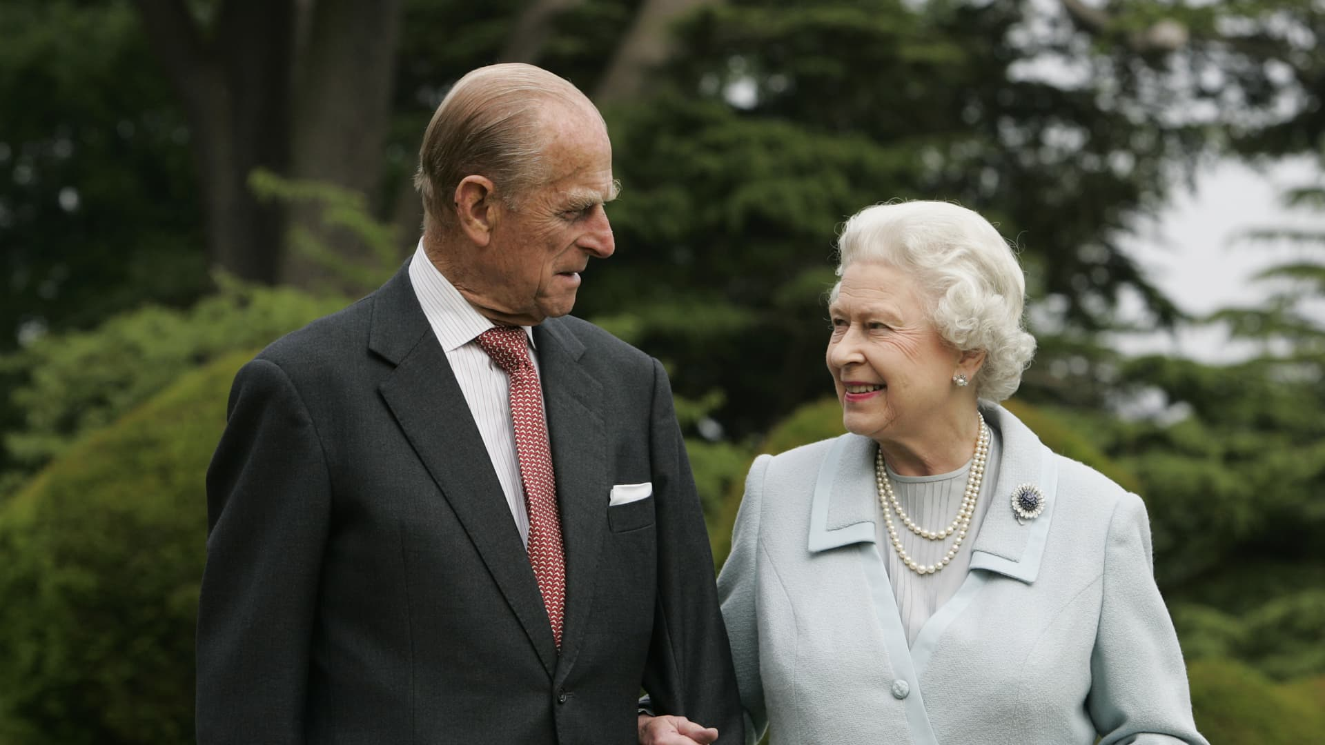 In this image made available Nov. 18, 2007, Queen Elizabeth II and Prince Philip revisit Broadlands to mark their diamond wedding anniversary on Nov. 20.