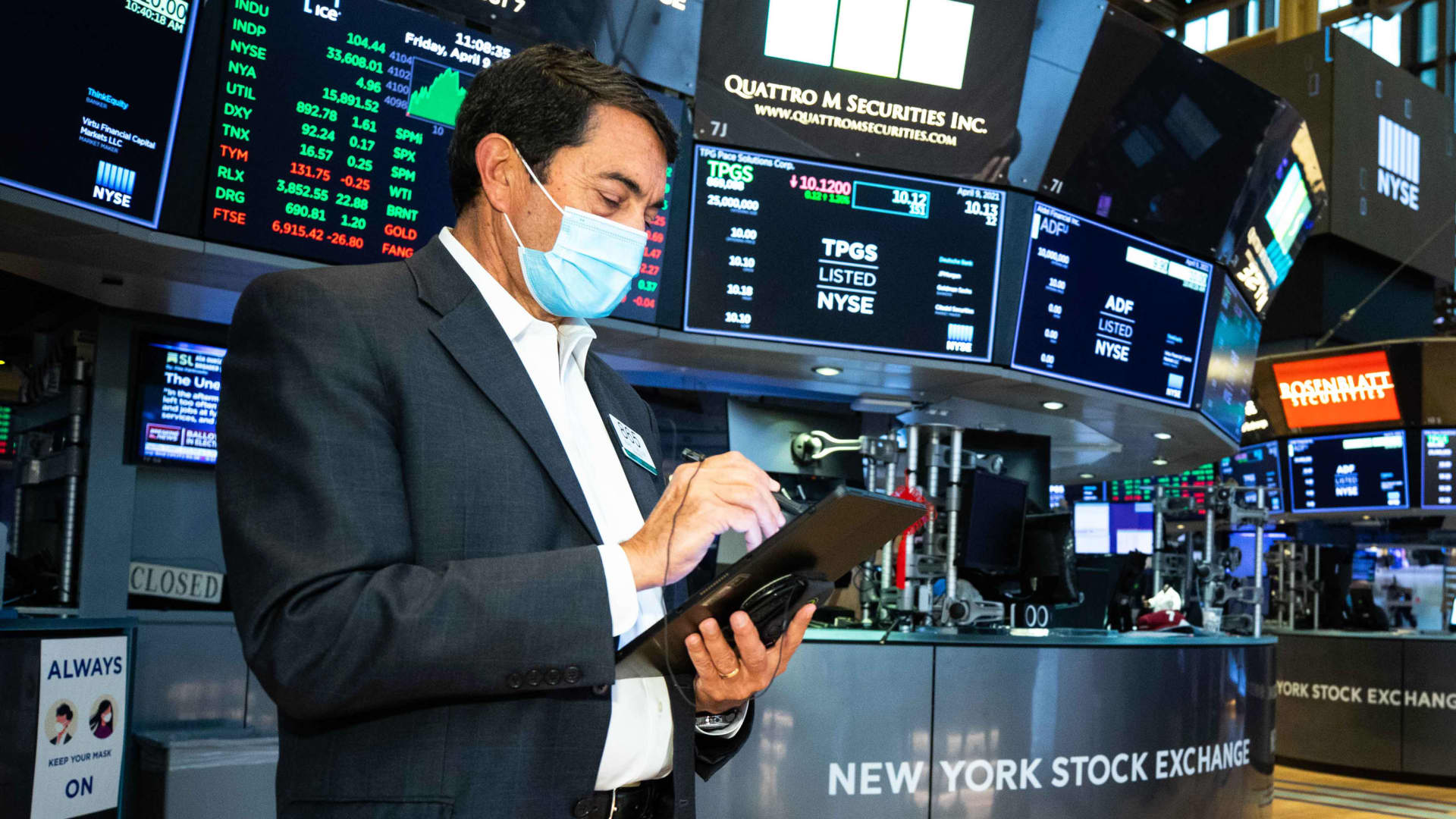 Traders on the New York Stock Exchange.