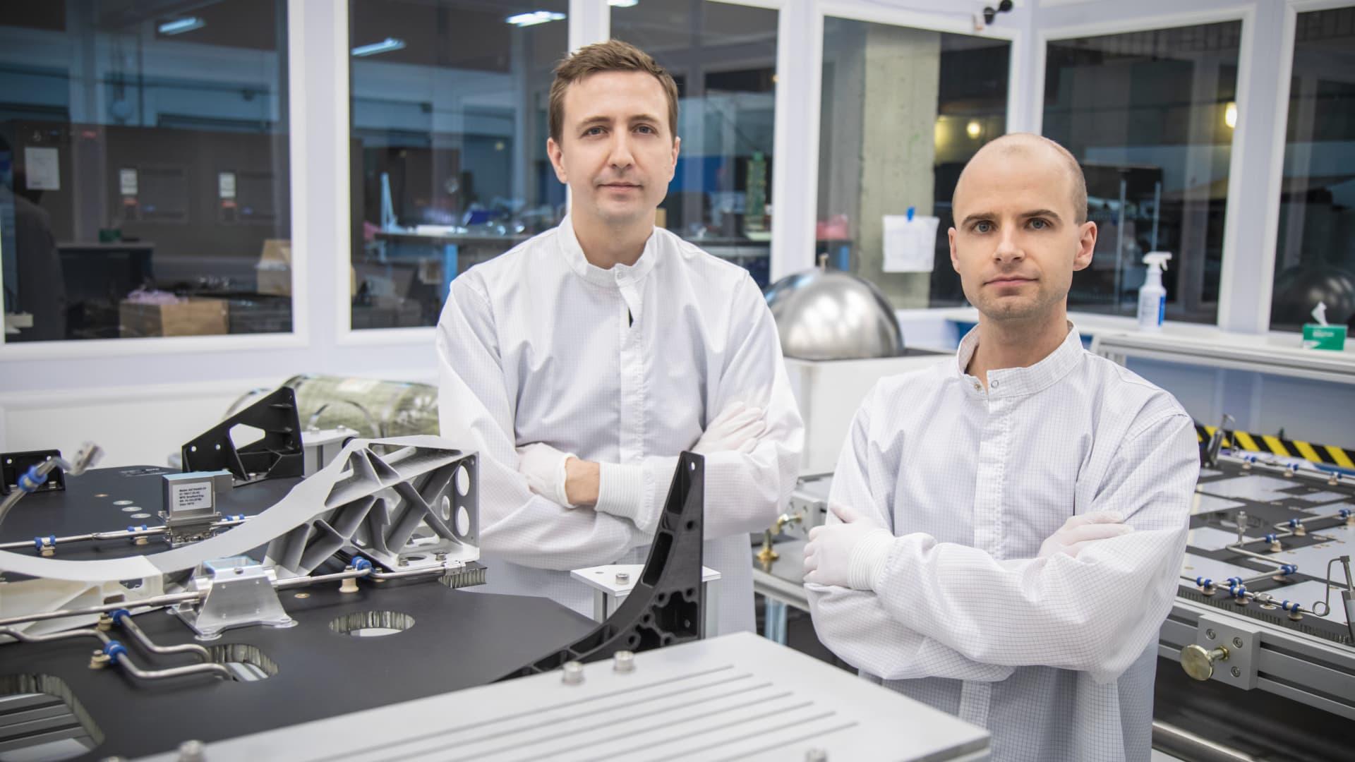 Astranis co-founders: CEO John Gedmark, left, and CTO Ryan McLinko.