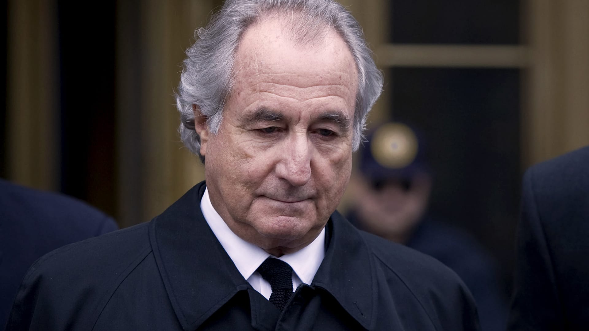Bernie Madoff leaves federal court in New York on March 10, 2009.