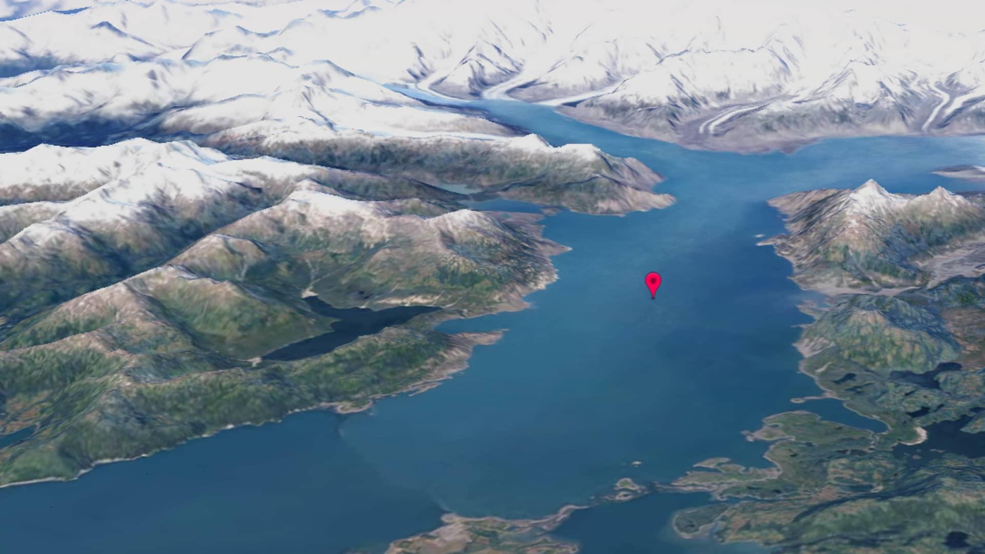Columbia Glacier in Alaska in 2020