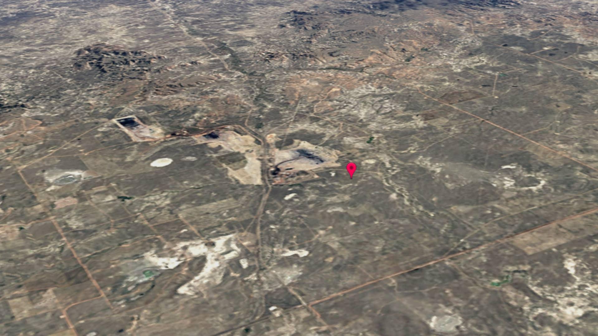Wyoming's North Antelope Rochelle coal mine in 1984