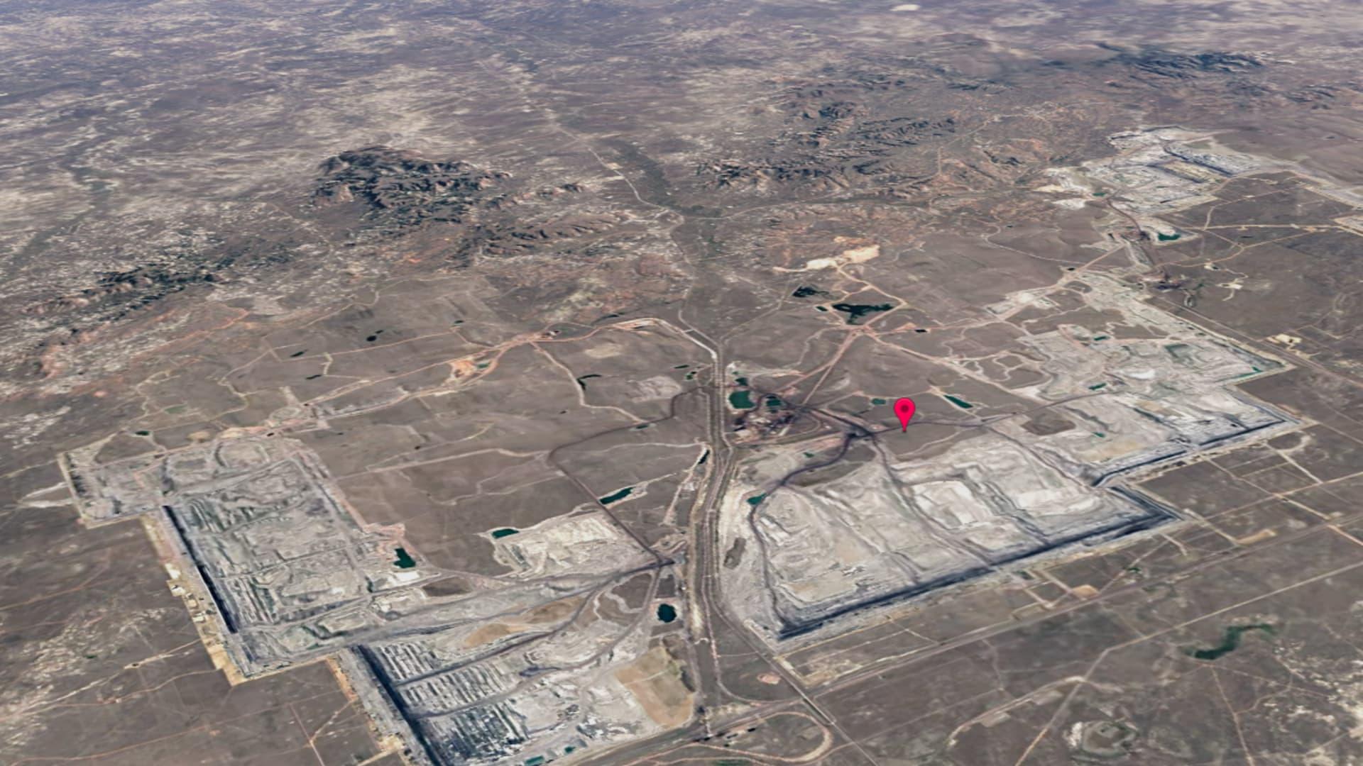 Wyoming's North Antelope Rochelle coal mine in 2020