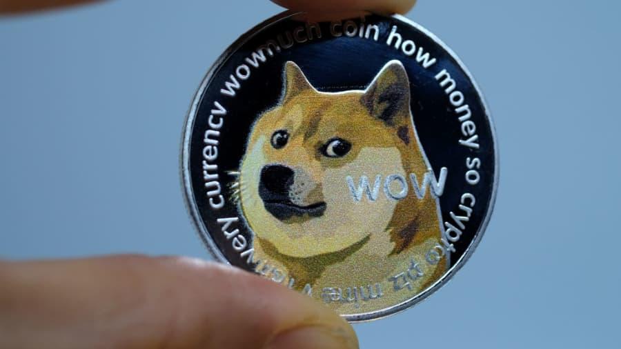 1 dogecoin į btc