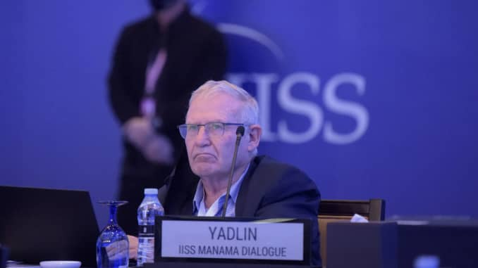 Retired Israeli general and Executive Director of Tel Aviv University's Institute for National Security Studies (INSS) Amos Yadlin attends a session at the Manama Dialogue security conference in the Bahraini capital on December 5, 2020.
