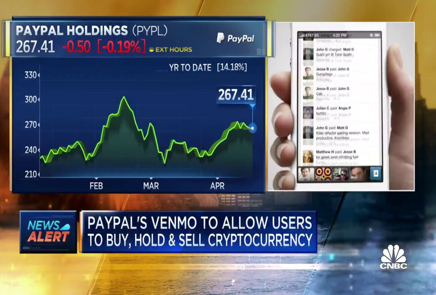 PayPal's Venmo to allow users to buy, hold, sell cryptocurrency