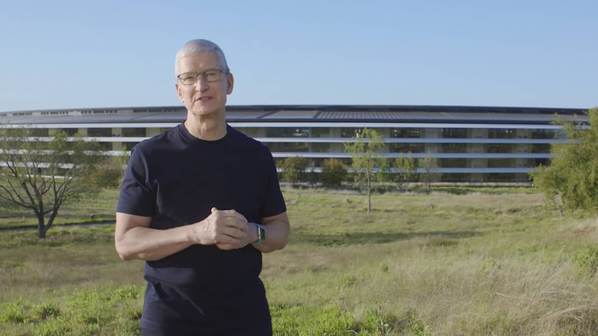 Tim Cook, CEO of Apple, speaks during an Apple Event on April 20th, 2021.