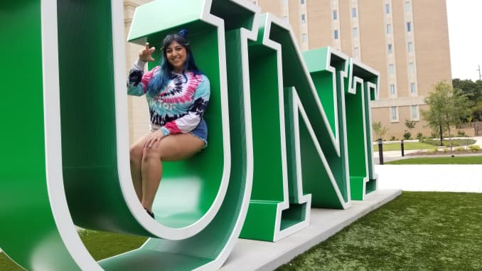 Bita Motiie, a senior at the University of North Texas, says being a brand ambassador for TikTok opened up a lot of job opportunities for her.