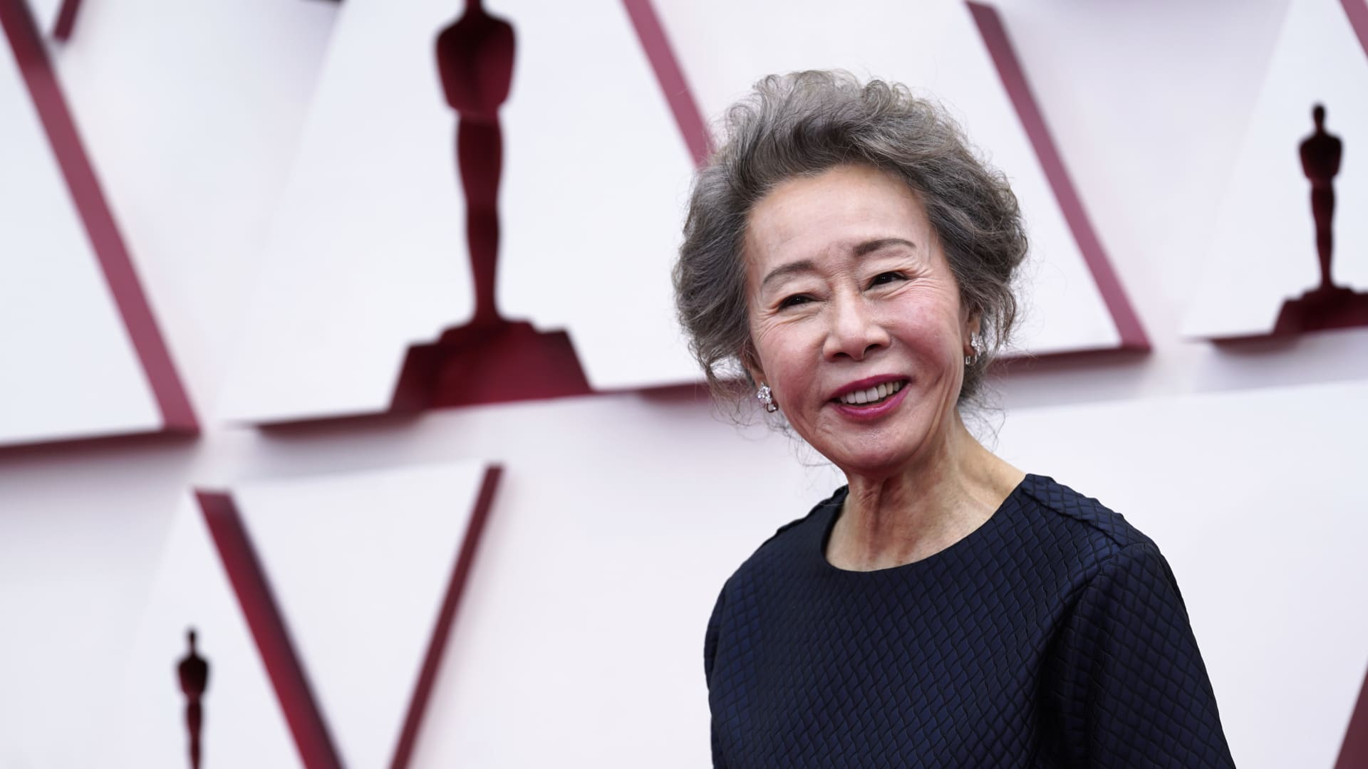 Youn Yuh-jung attends the 93rd Annual Academy Awards at Union Station on April 25, 2021 in Los Angeles, California.