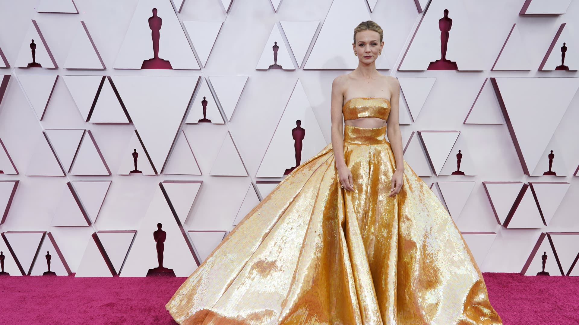 Carey Mulligan attends the 93rd Annual Academy Awards at Union Station on April 25, 2021 in Los Angeles, California.