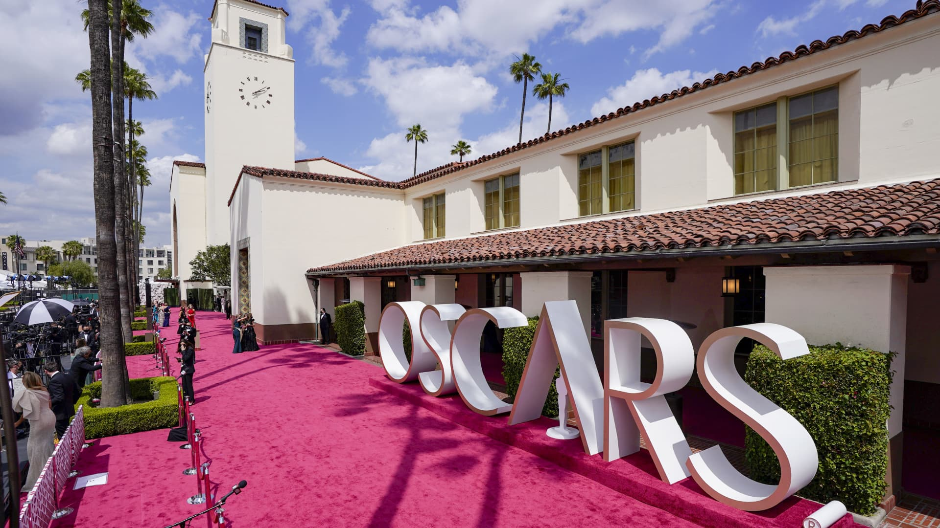 A view of the red carpet during the 93rd Annual Academy Awards at Union Station on April 25, 2021 in Los Angeles, California.