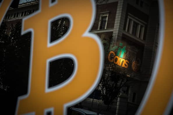 Bitcoin steadies after a wild week that saw the cryptocurrency plunge 30% at one point