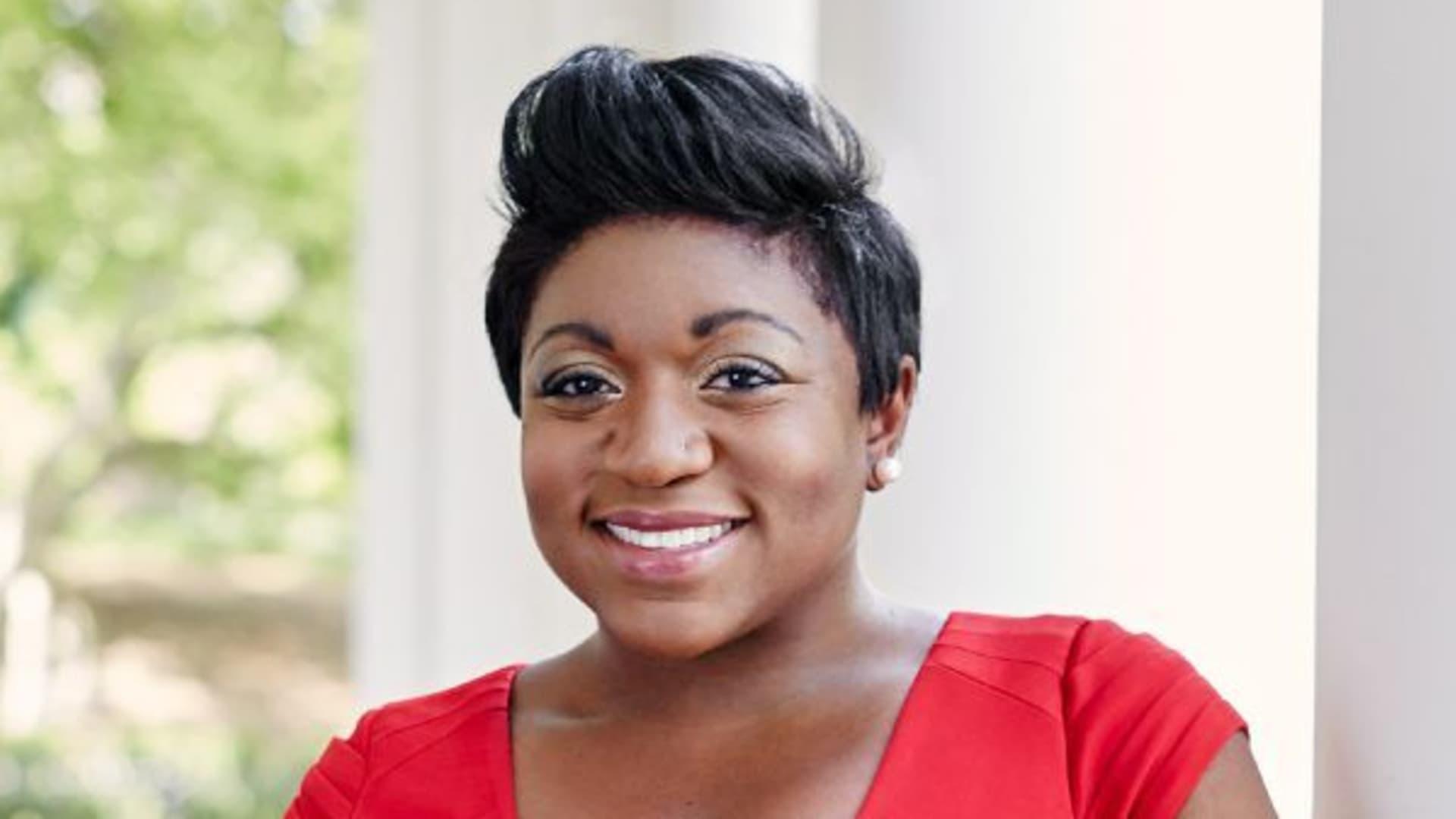 Deesha Dyer, Obama White House alum and founder of the Black Girl 44 Scholarship.