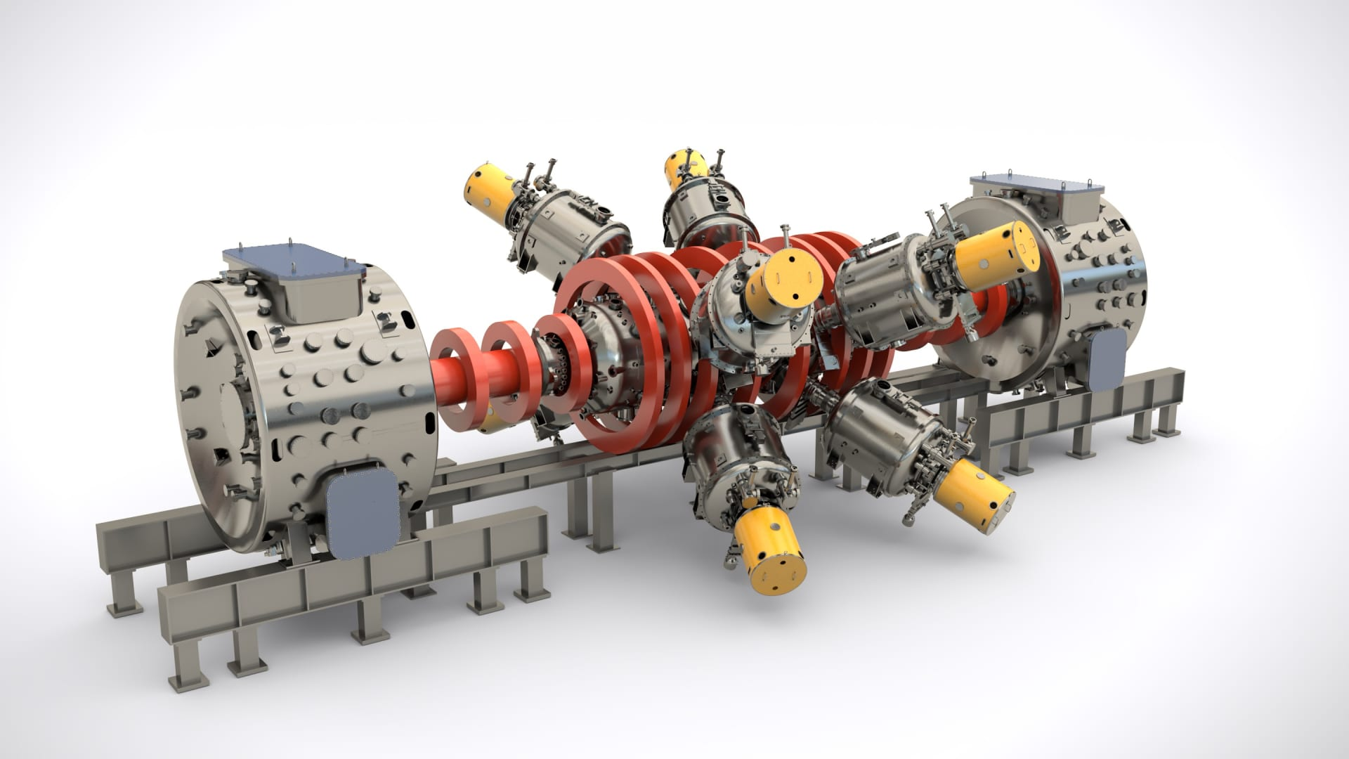 This is a rendering of Copernicus, the next generation fusion machine TAE Technologies is going to build.