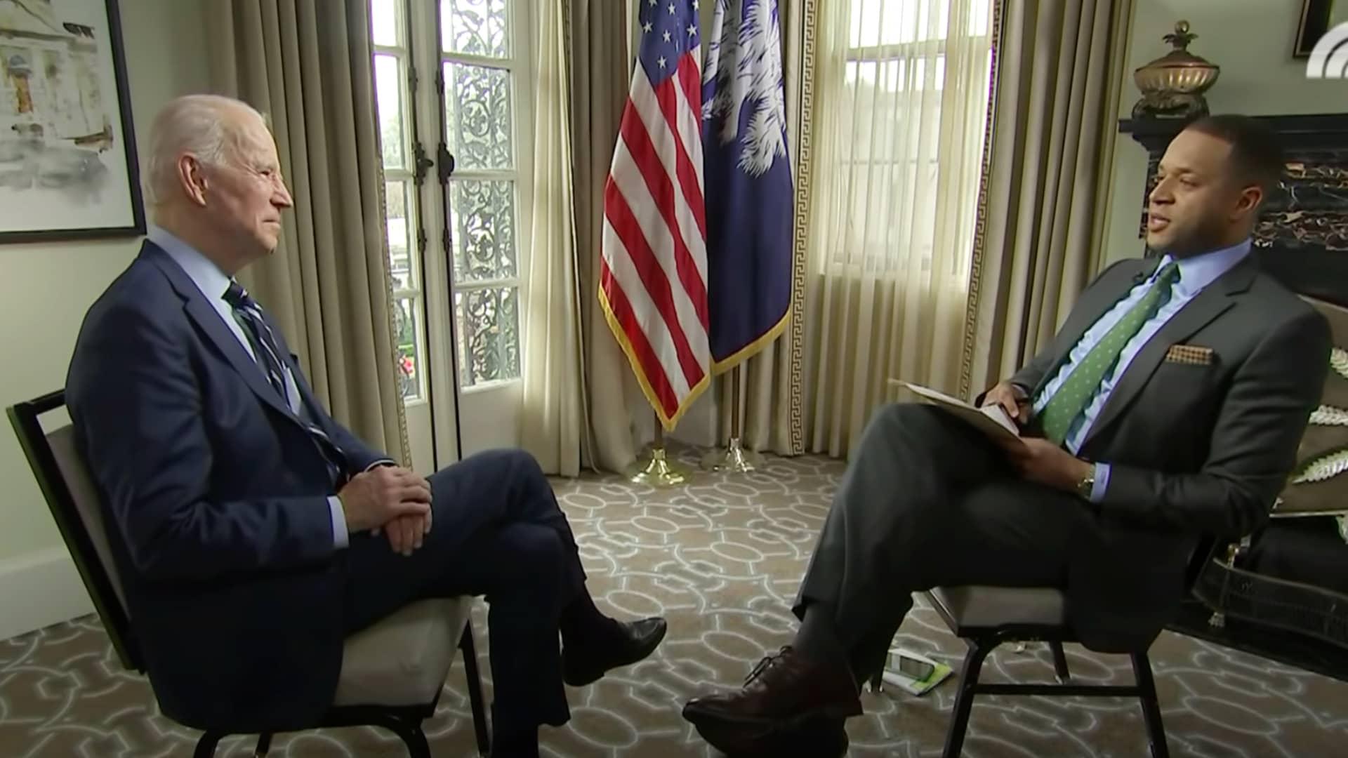 Craig Melvin interviews President Joe Biden on TODAY.
