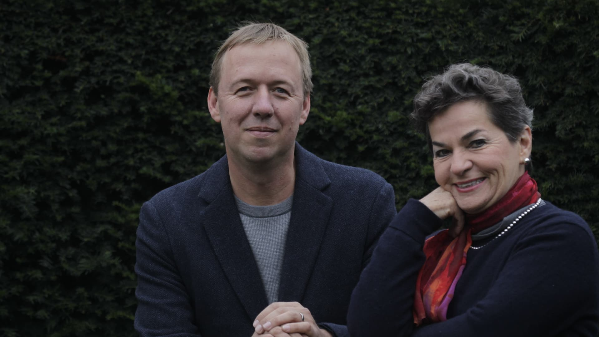 Tom Rivett-Carnac and Christiana Figueres, co-founders of Global Optimism