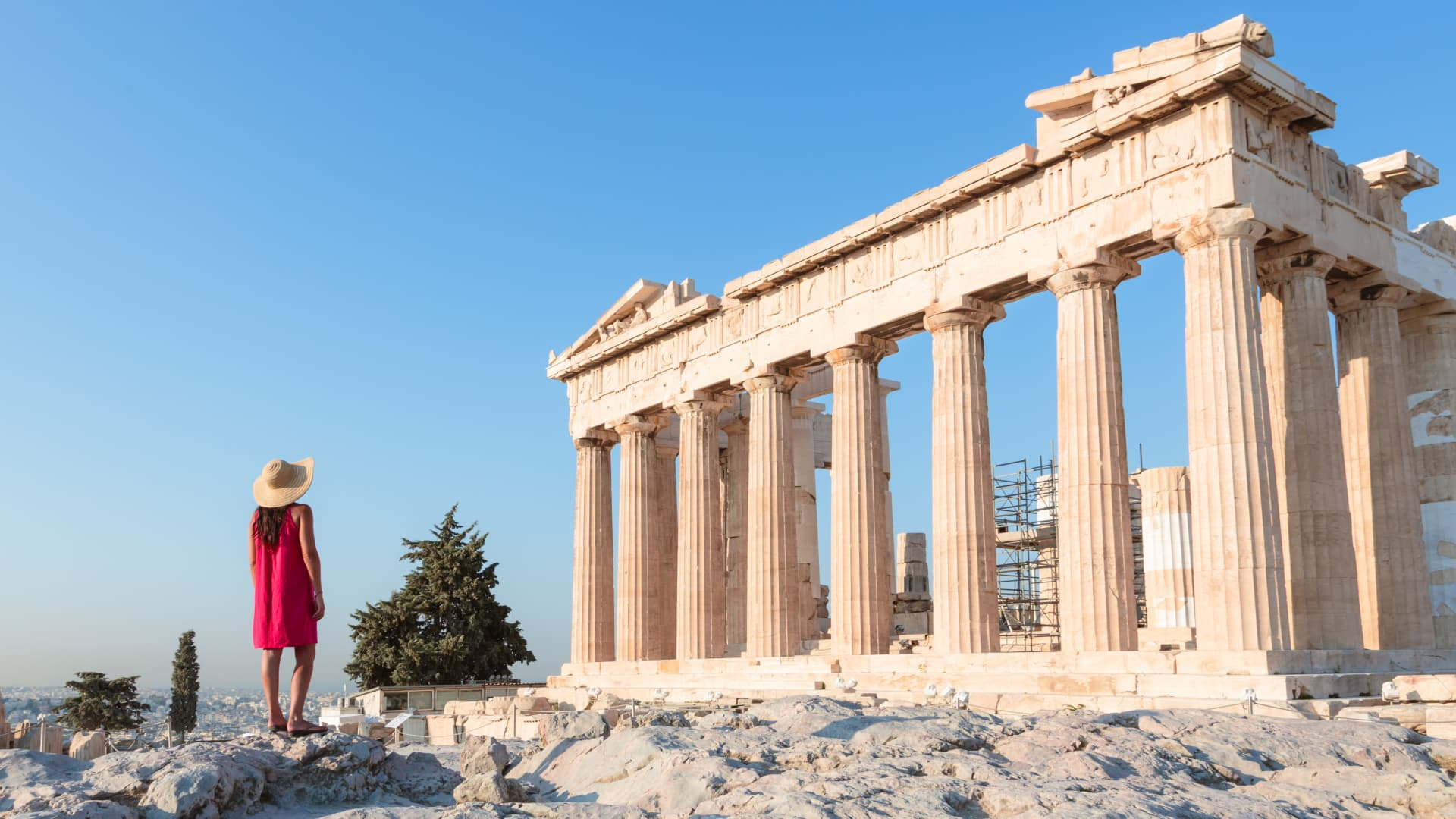 Though the Acropolis has reopened, Greece is currently under lockdown-type restrictions with a nighttime curfew and store and restaurant closures.