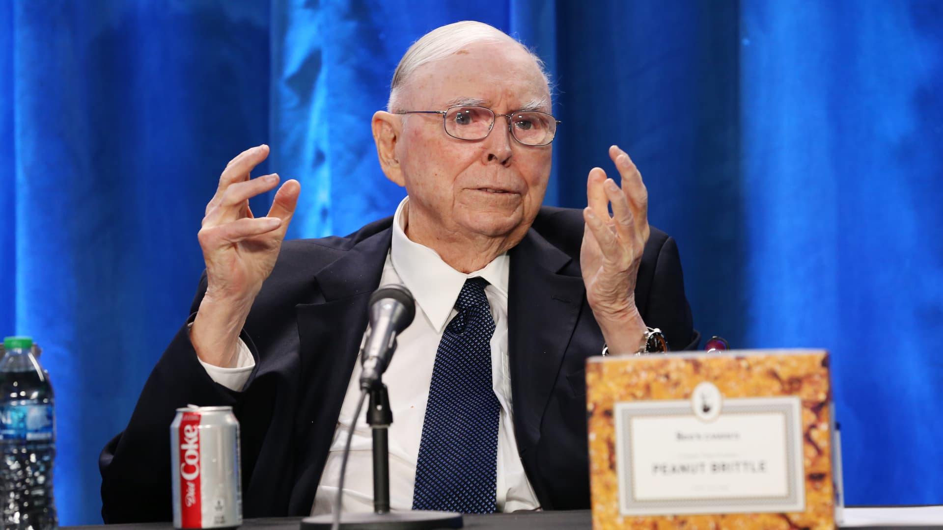 Charlie Munger at Berkshire Hathaway's annual meeting in Los Angeles California. May 1, 2021.
