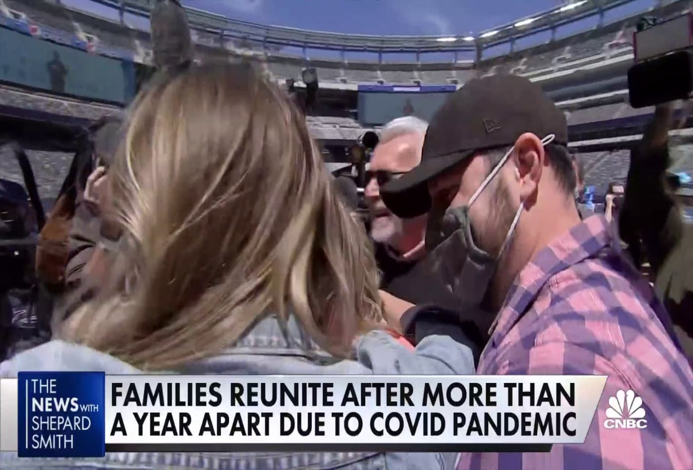 Families reunite after more than a year due to Covid pandemic