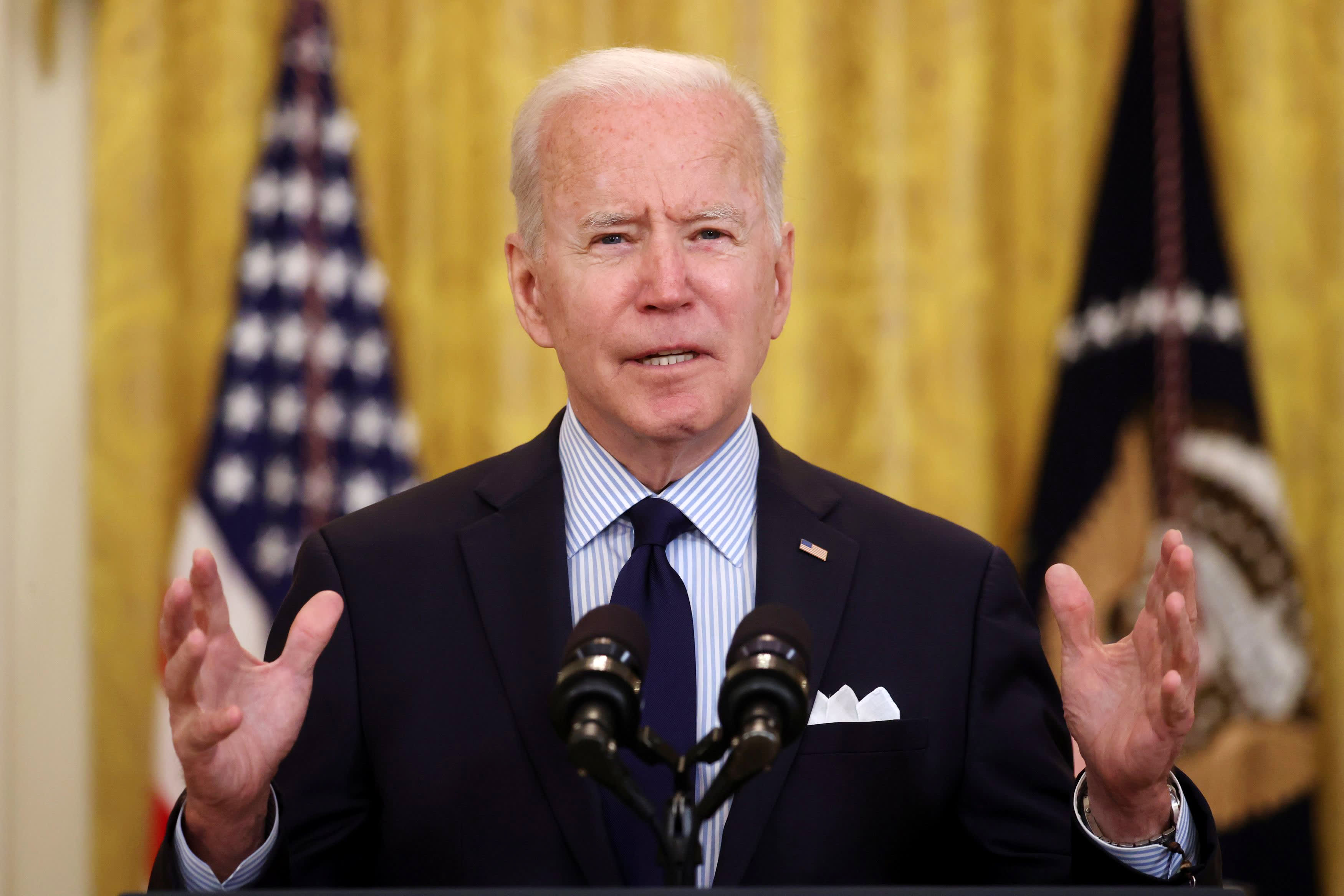 Weak jobs report shows the need for massive jobs and families bills, Biden says - CNBC