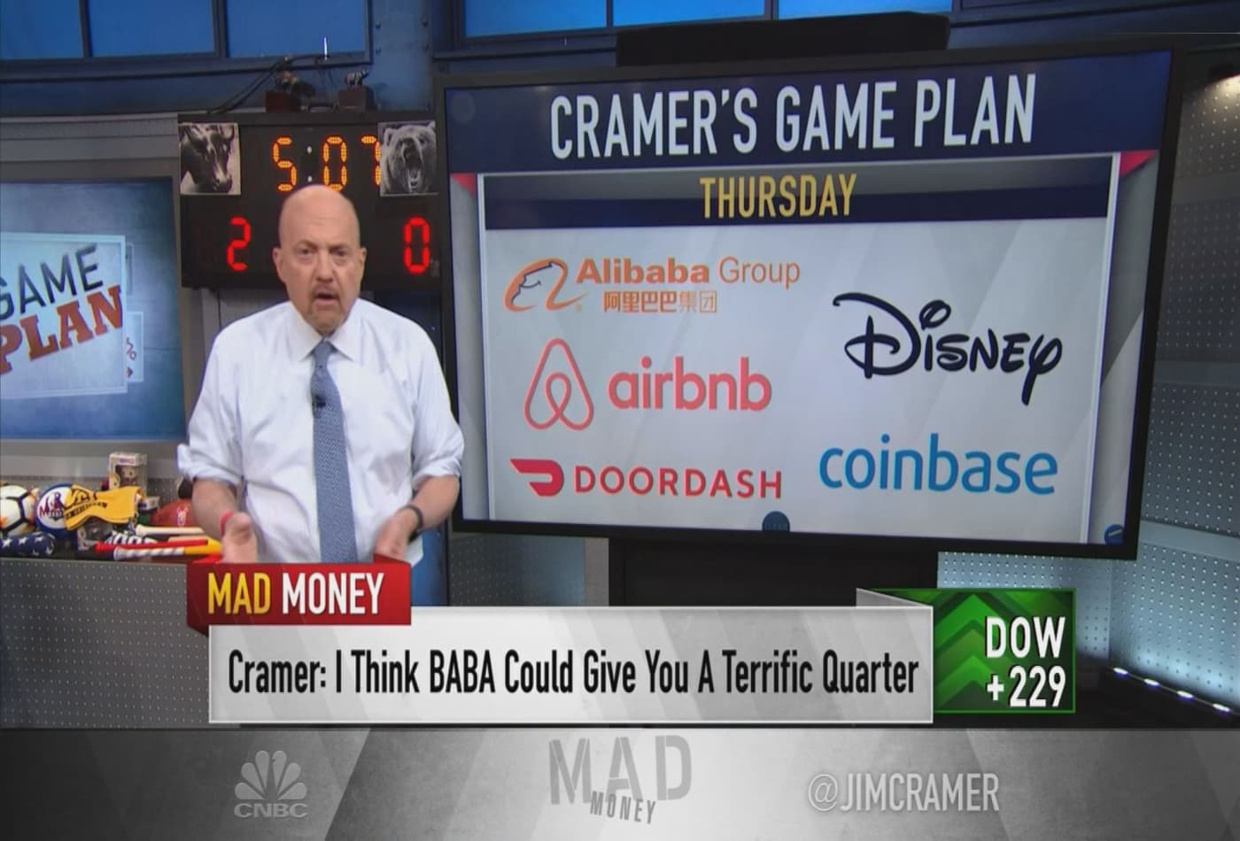 Cramer's week ahead: I would buy Disney