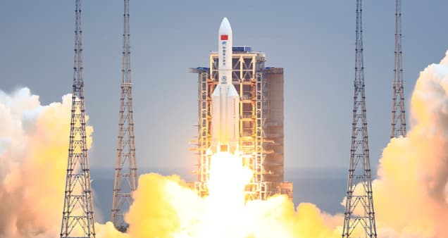 China says its rocket debris landed in the Indian Ocean
