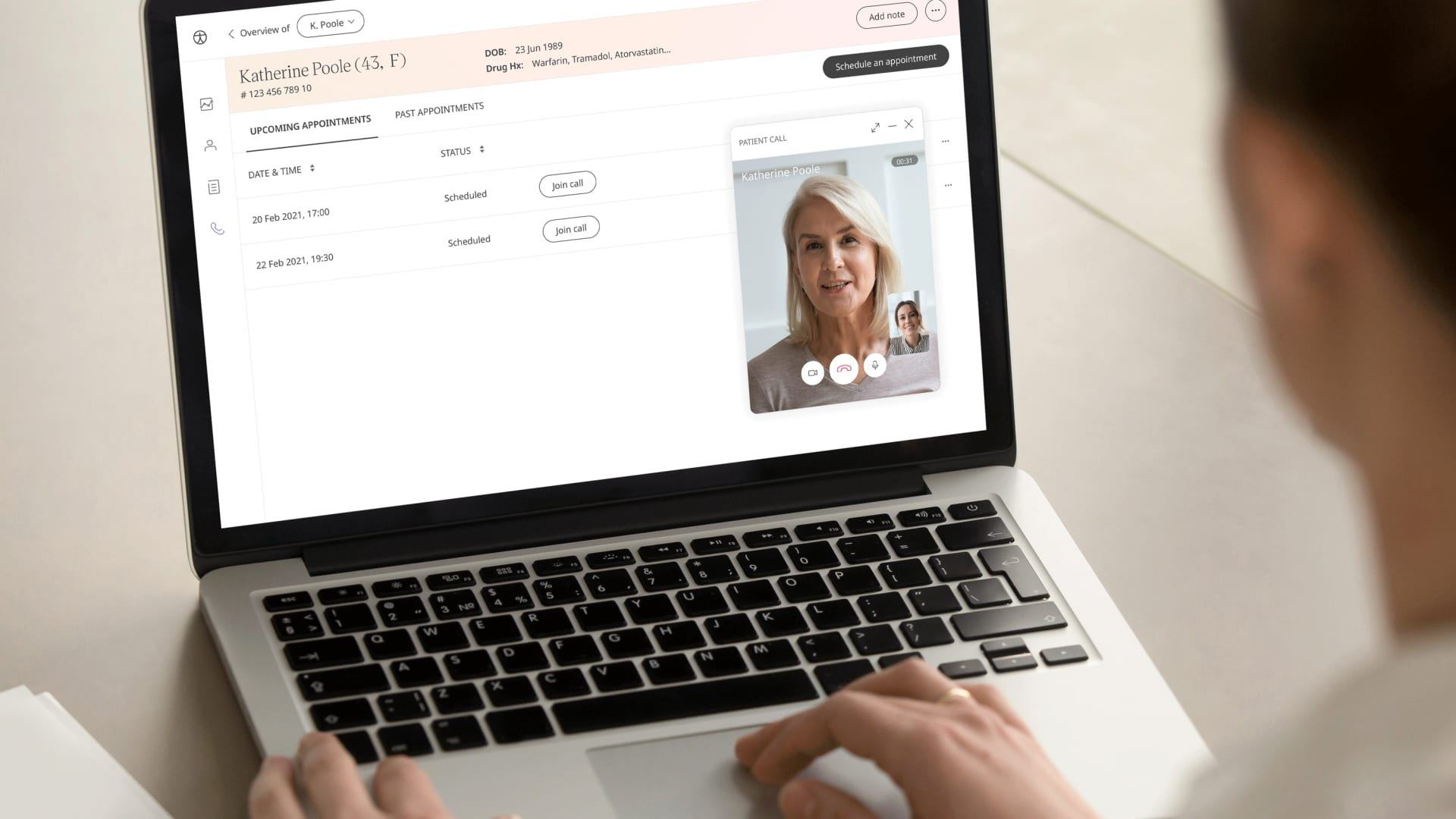 A clinician uses British health start-up Huma's digital platform.