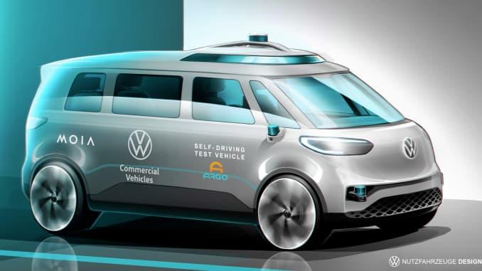 VW ID.Buzz autonomous microbus