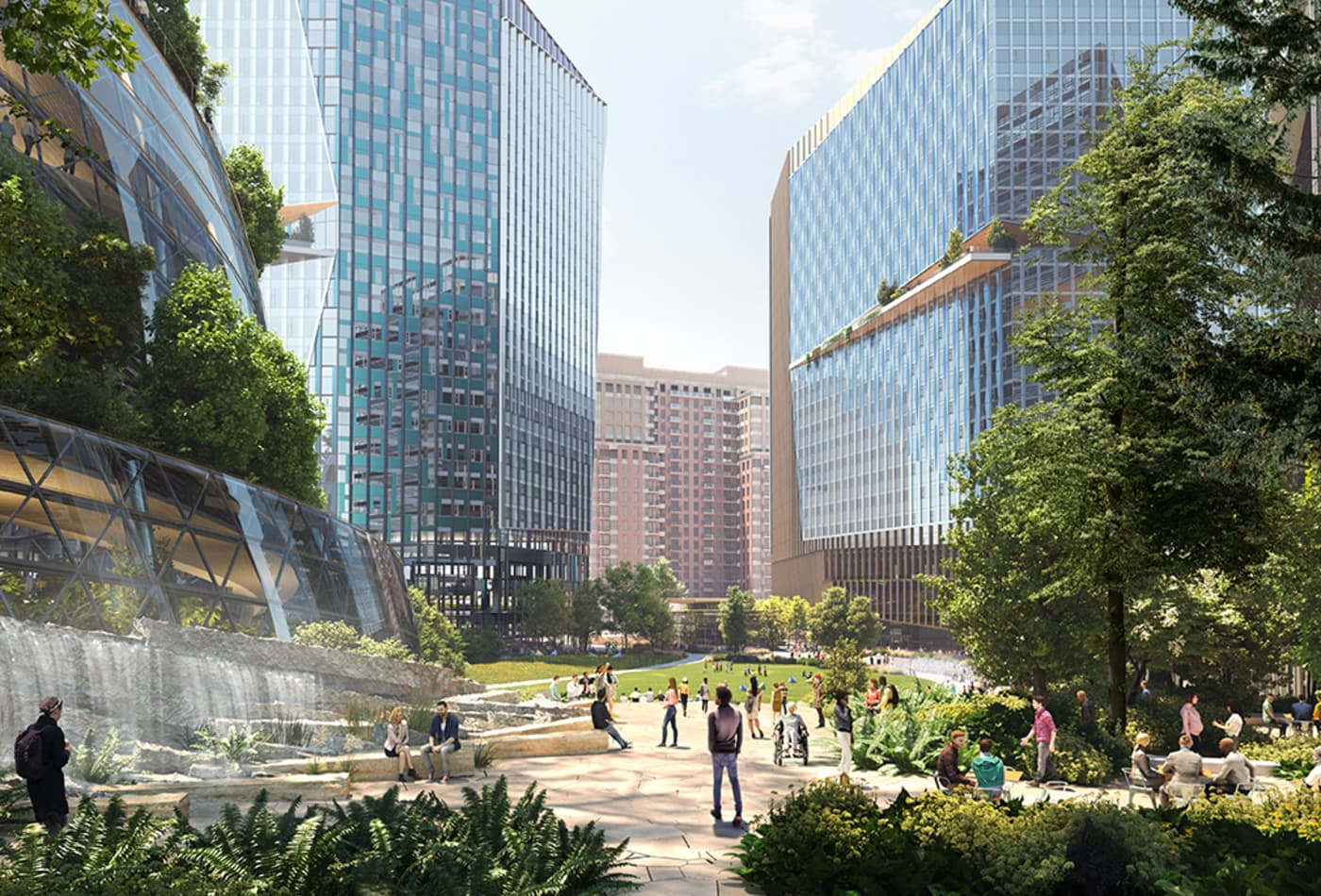 Amazon releases new images of HQ2 as it ramps up hiring in Virginia