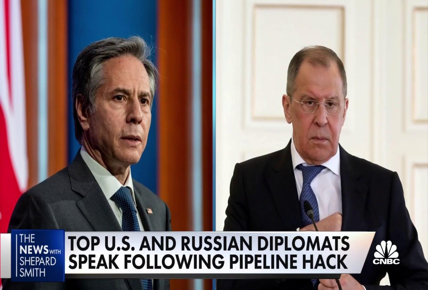 Top U.S. and Russian diplomats speak following pipeline hack