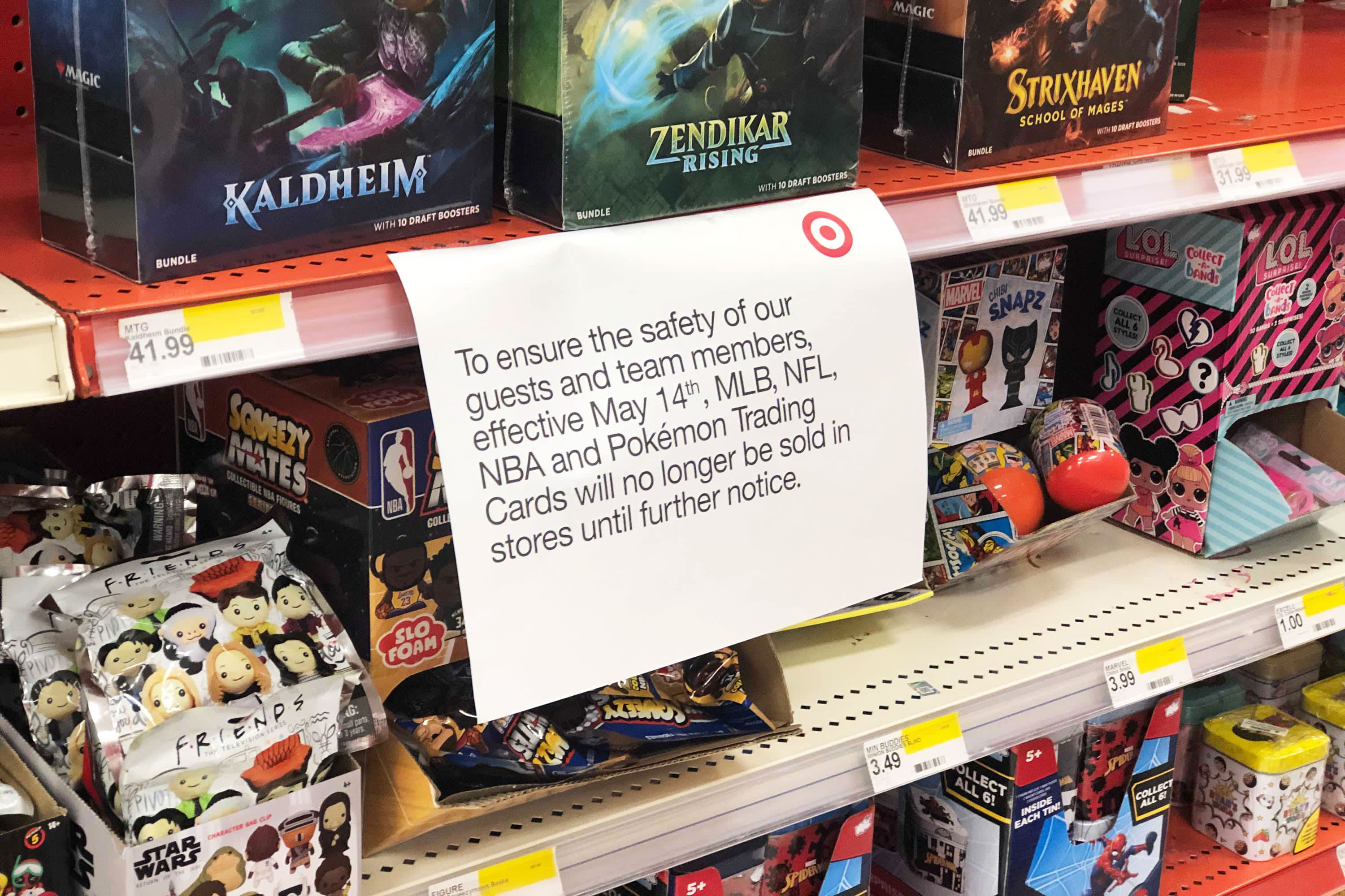 Target takes trading cards off of shelves temporarily after violent incident involving a gun