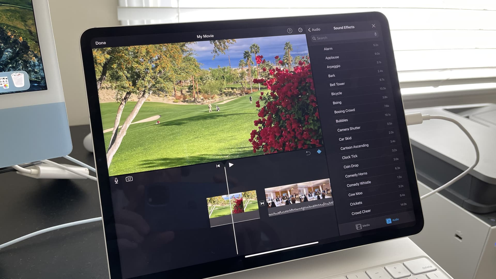 Editing some quick video on the 2021 12.9-inch iPad Pro.
