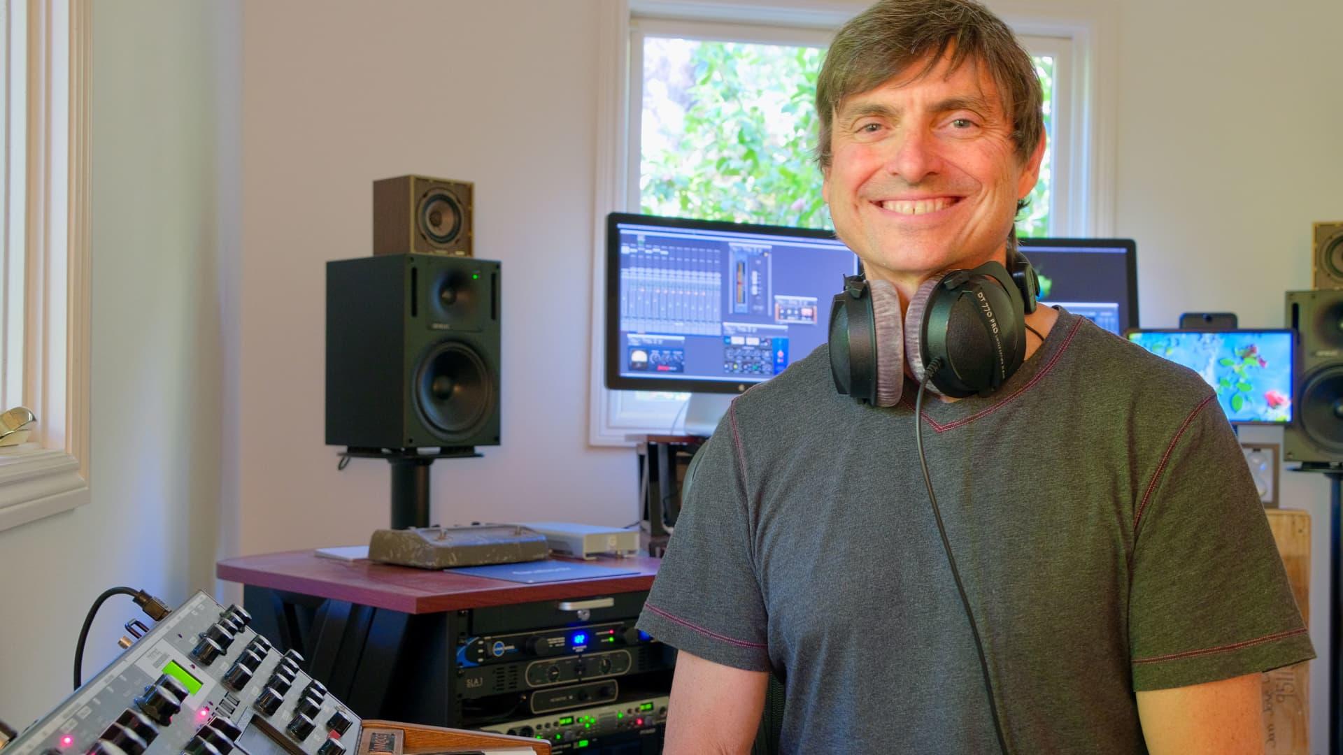 Facebook's Will Littlejohn in his home studio.