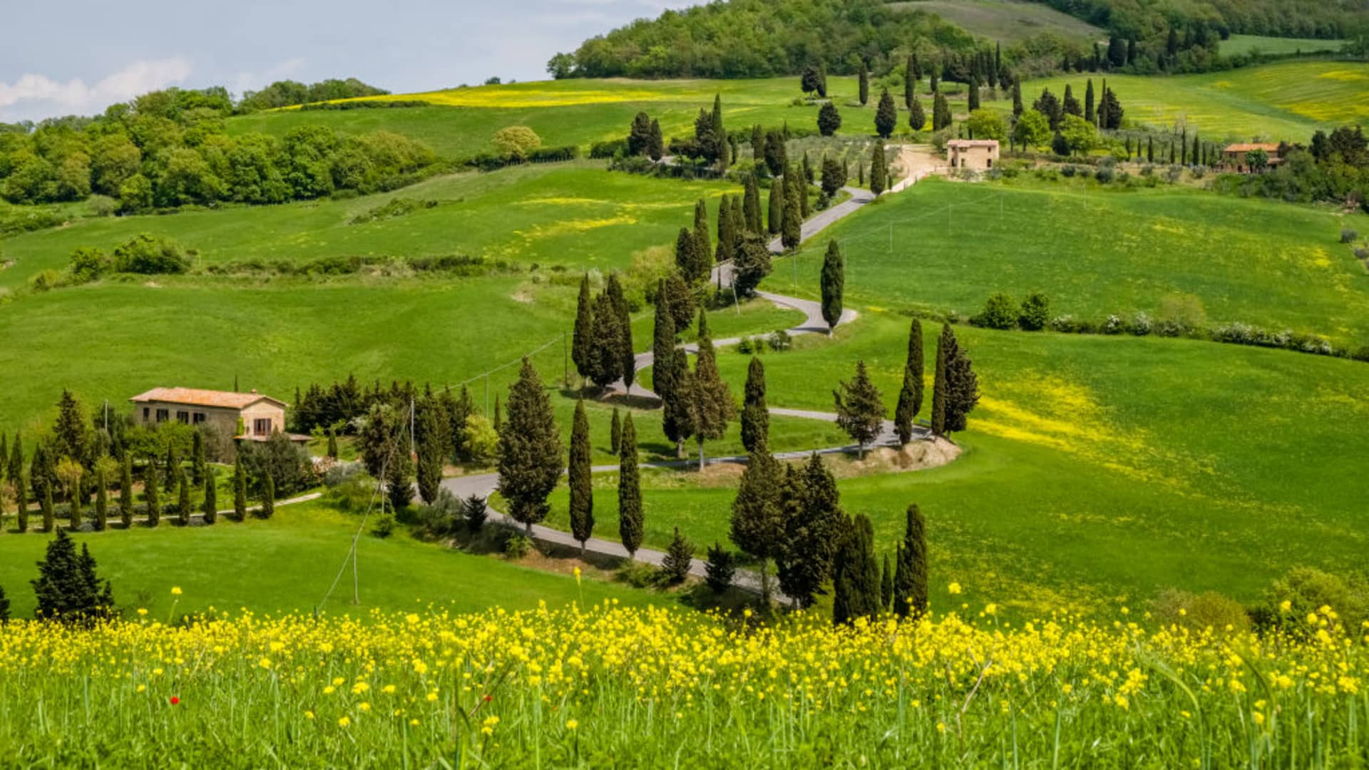 With 55 in all, Italy is tied with China for having the most UNESCO World Heritage Sites, though not all are crawling with tourists, such as the rural landscape of Tuscany's Val d'Orcia.
