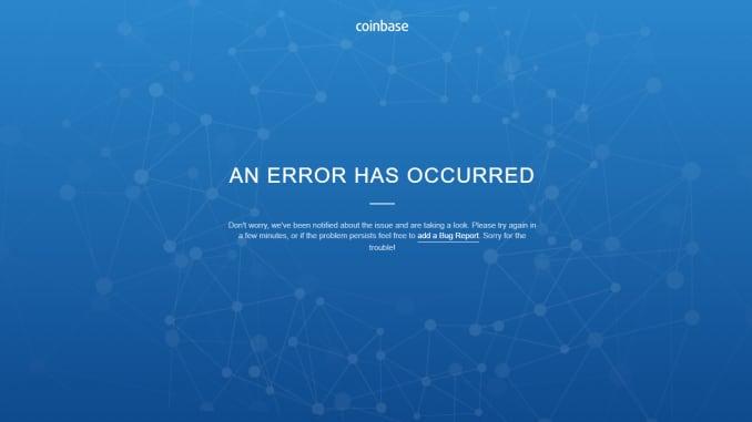 Ảnh chụp màn hình trang Coinbase