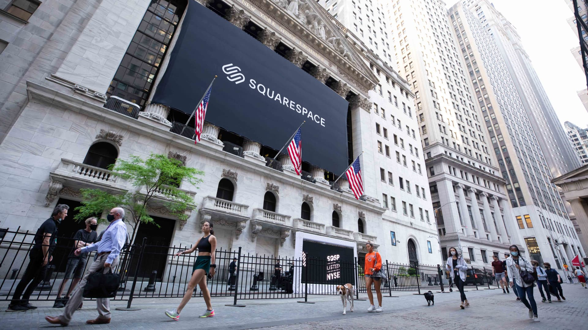 The New York Stock Exchange welcomes Squarespace, Inc. (NYSE: SQSP), on May 19, 2021, in celebration of its Direct Listing.